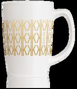 Mug Signature blanc et or en porcelaine 40cl