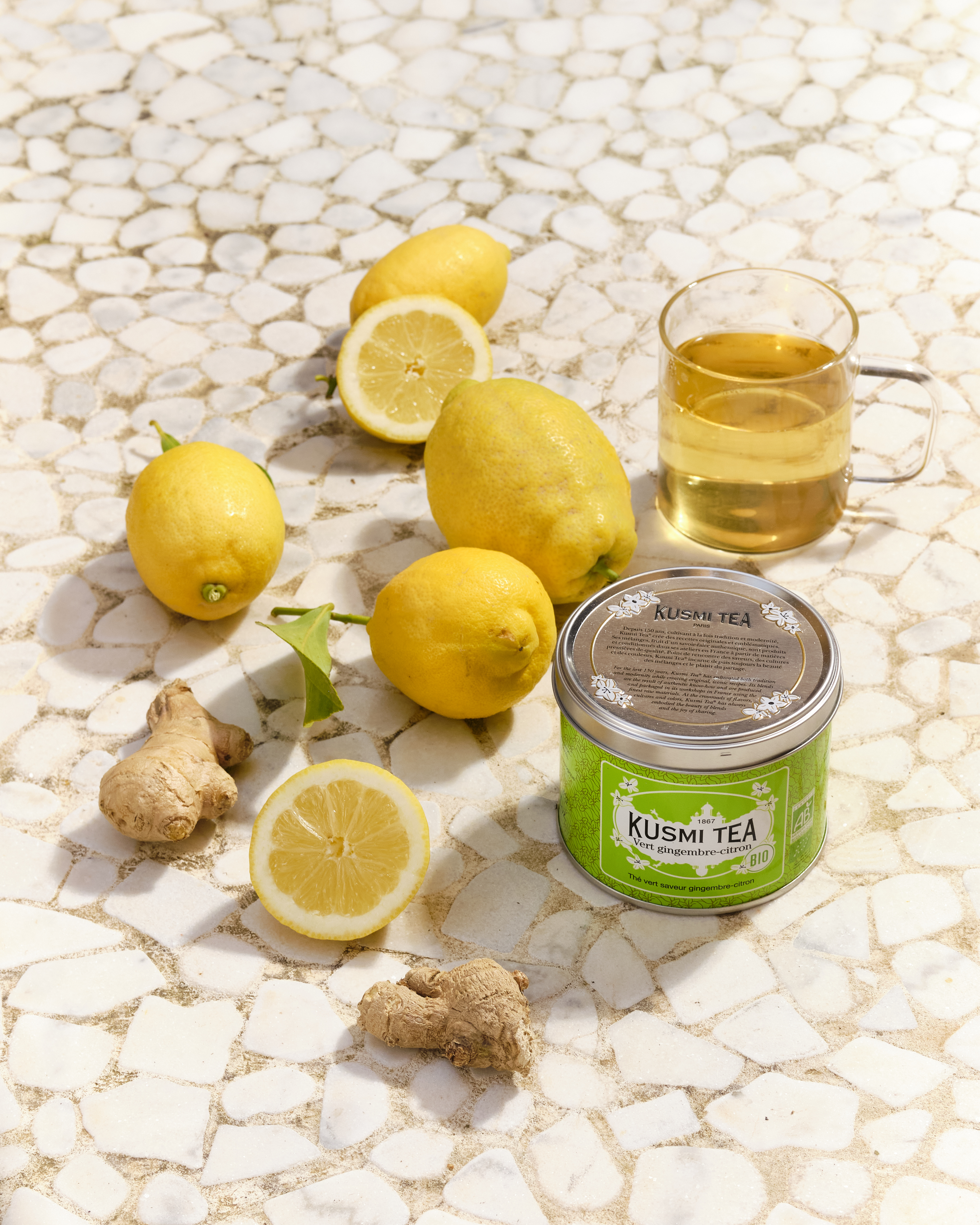 thé vert bio gingembre-citron