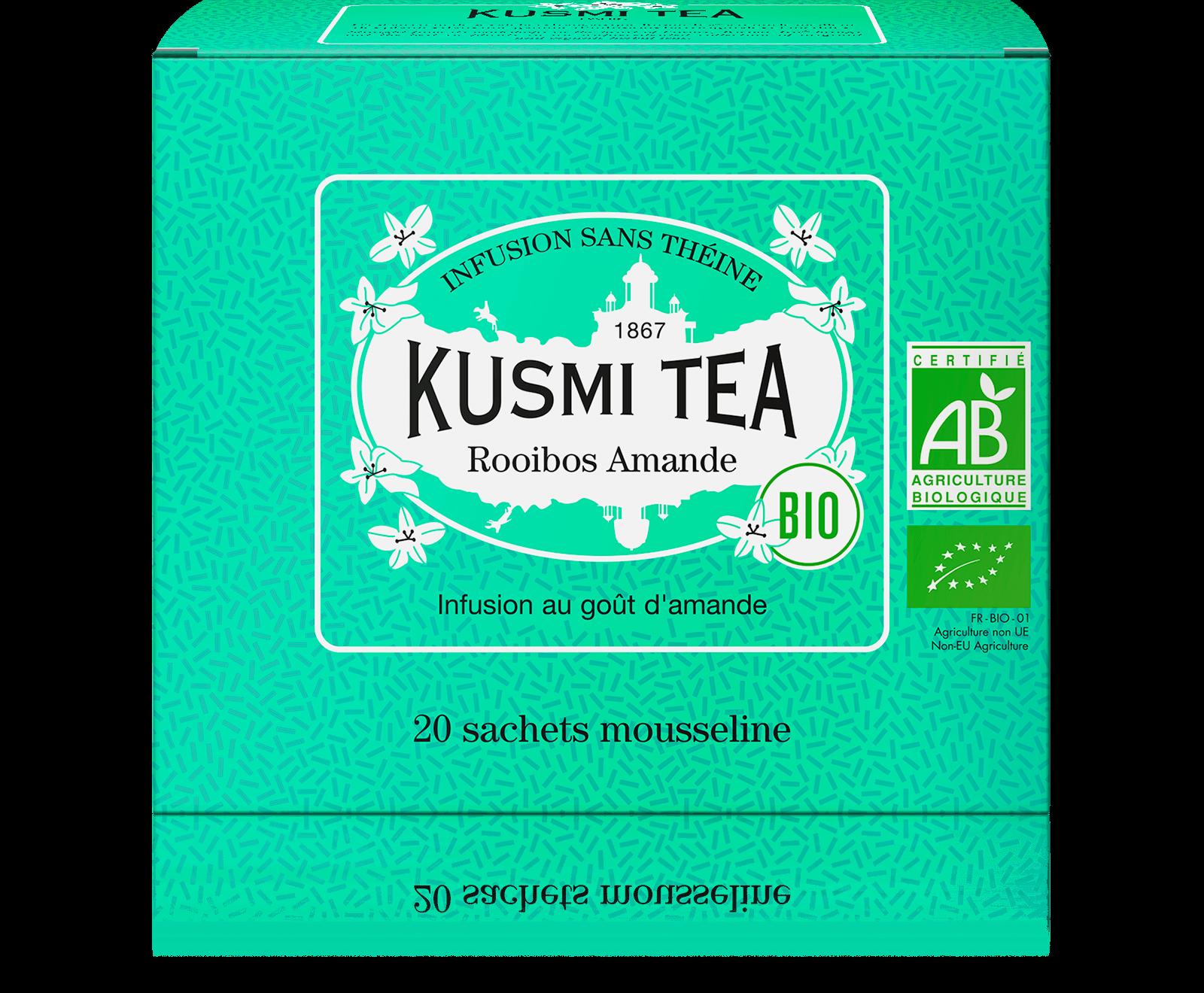 Rooibos Amande Infusion bio - Infusion au goût d'amande - Sachets de thé - Kusmi Tea