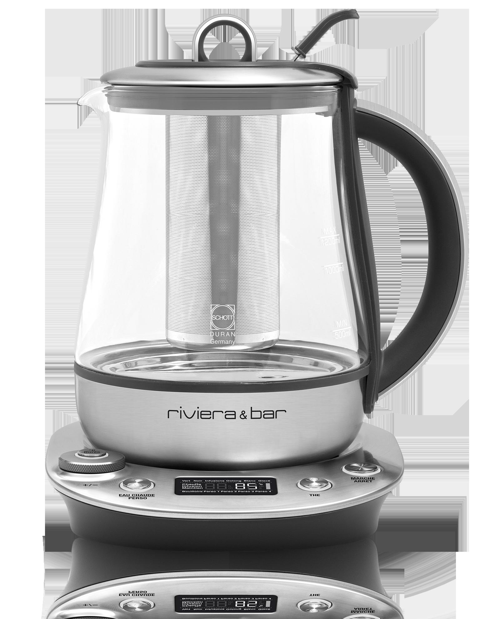 Infusion - Théière électrique automatique Sencha'Ice Riviera & Bar 1,2 L en verre - Vrac - Kusmi Tea