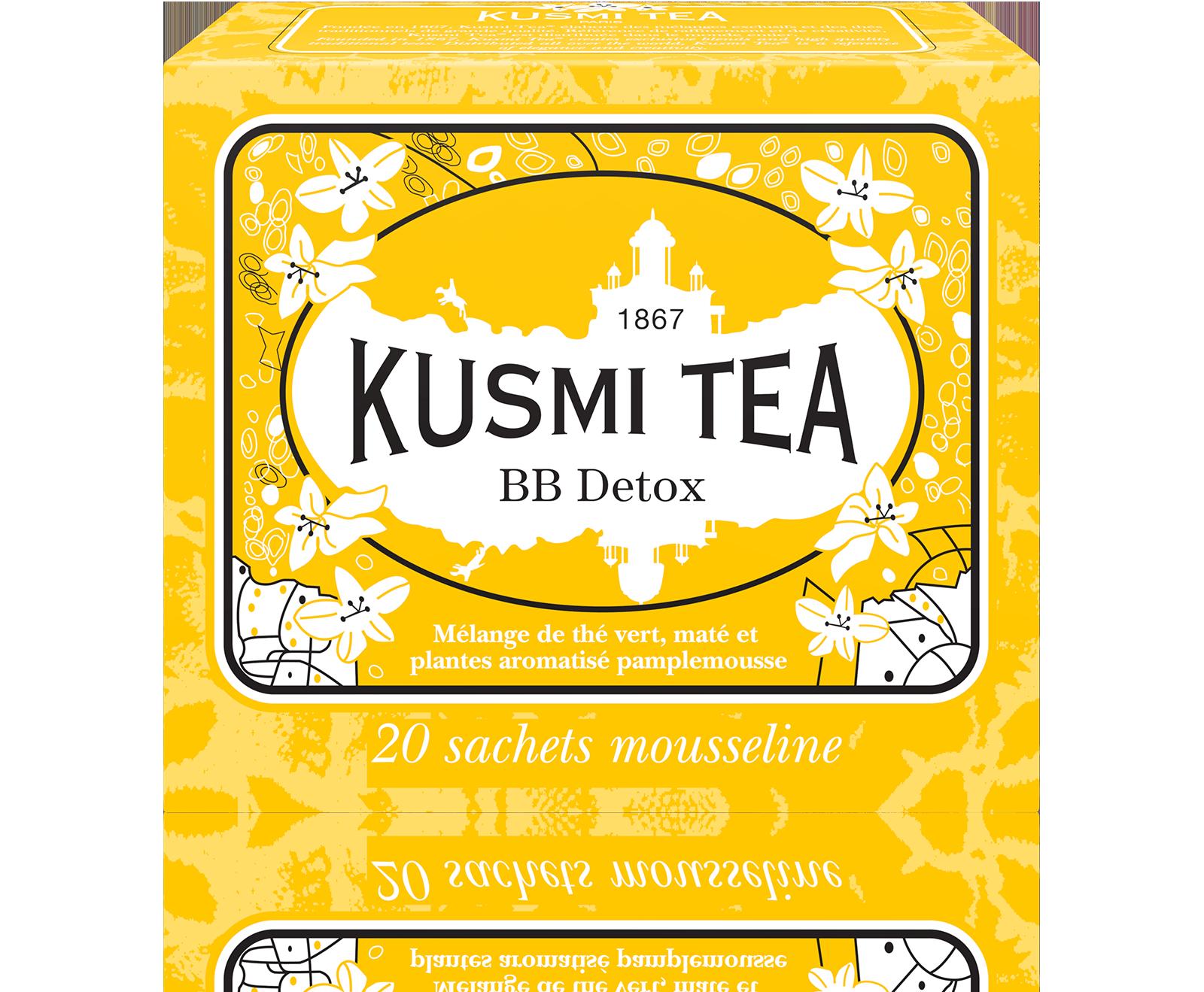 Thé vert-Maté -Guarana -BB Detox - 20 sachets Kusmi Tea