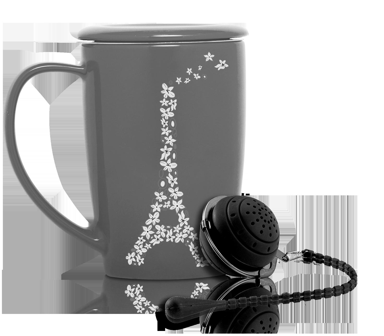Boule à thé blanche