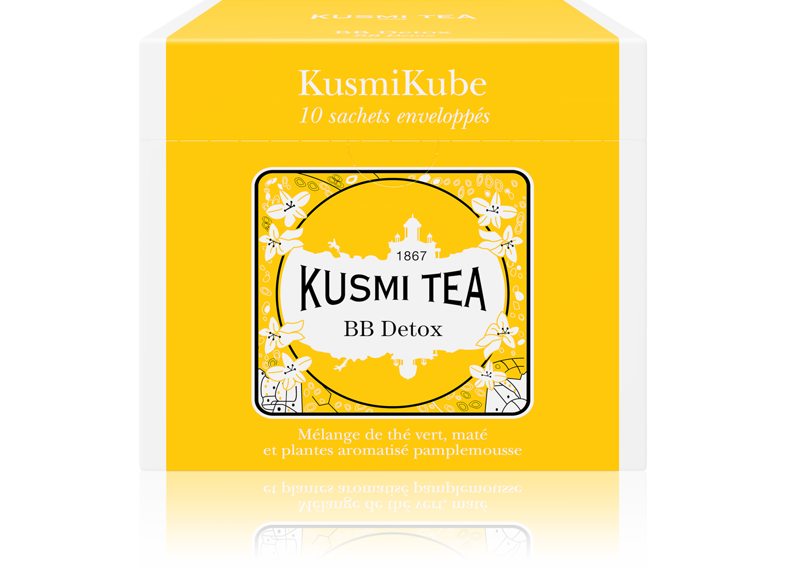 Thé vert, maté, rooibos - BB Detox - Sachets - Kusmi Tea