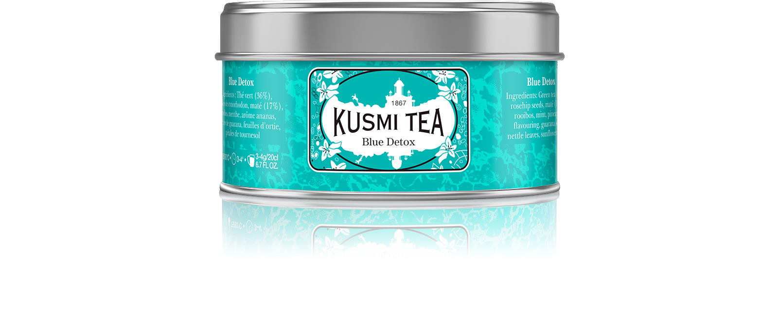 Thé vert, maté, rooibos - Blue Detox - Kusmi Tea