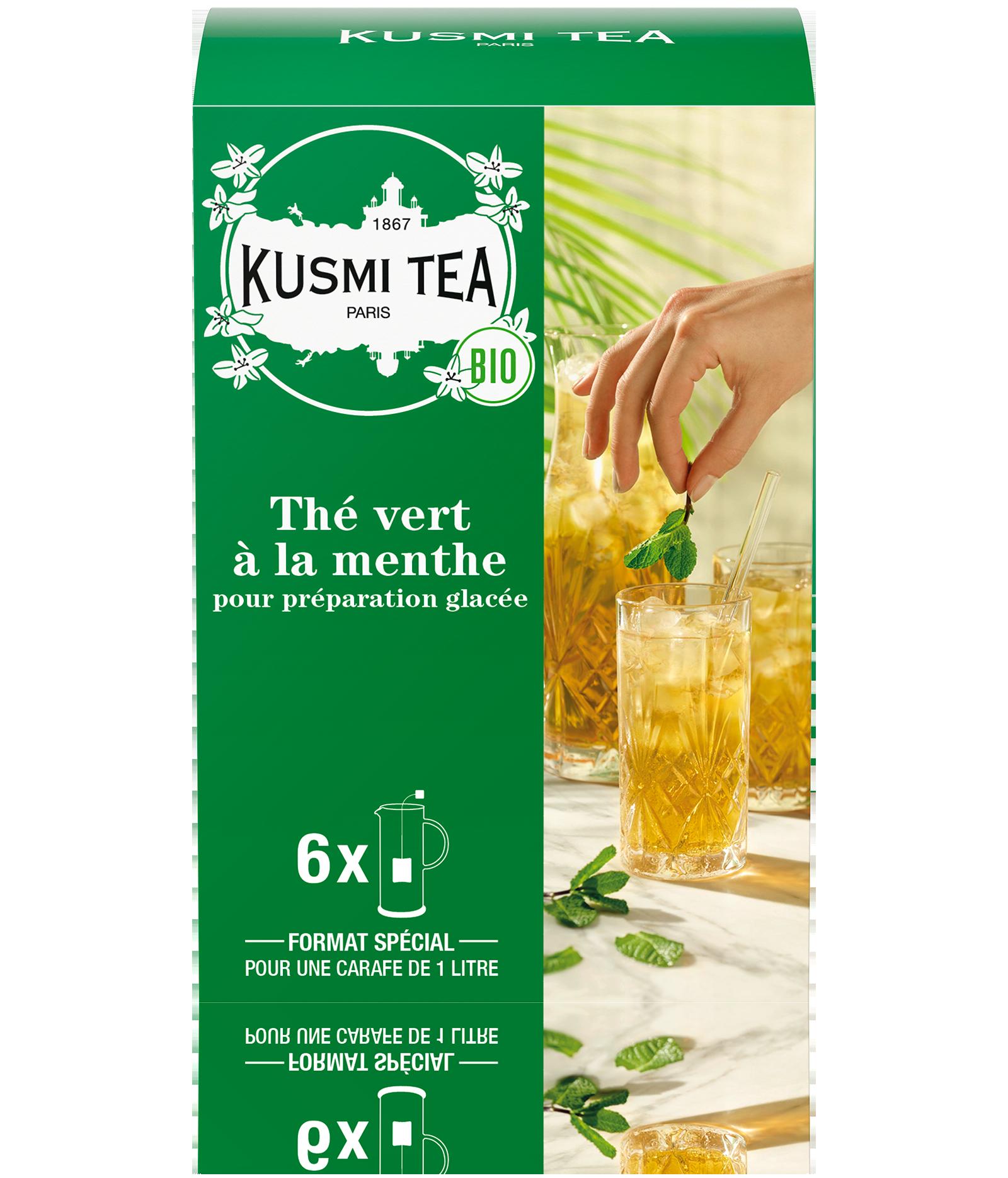 Thé vert - Thé vert à la menthe bio - Sachets - Kusmi Tea