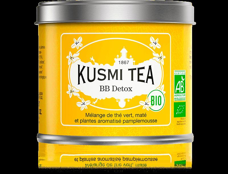 BB Detox bio - Mélange de thé vert, maté et plantes aromatisé pamplemousse - Boite à thé en vrac - Kusmi Tea