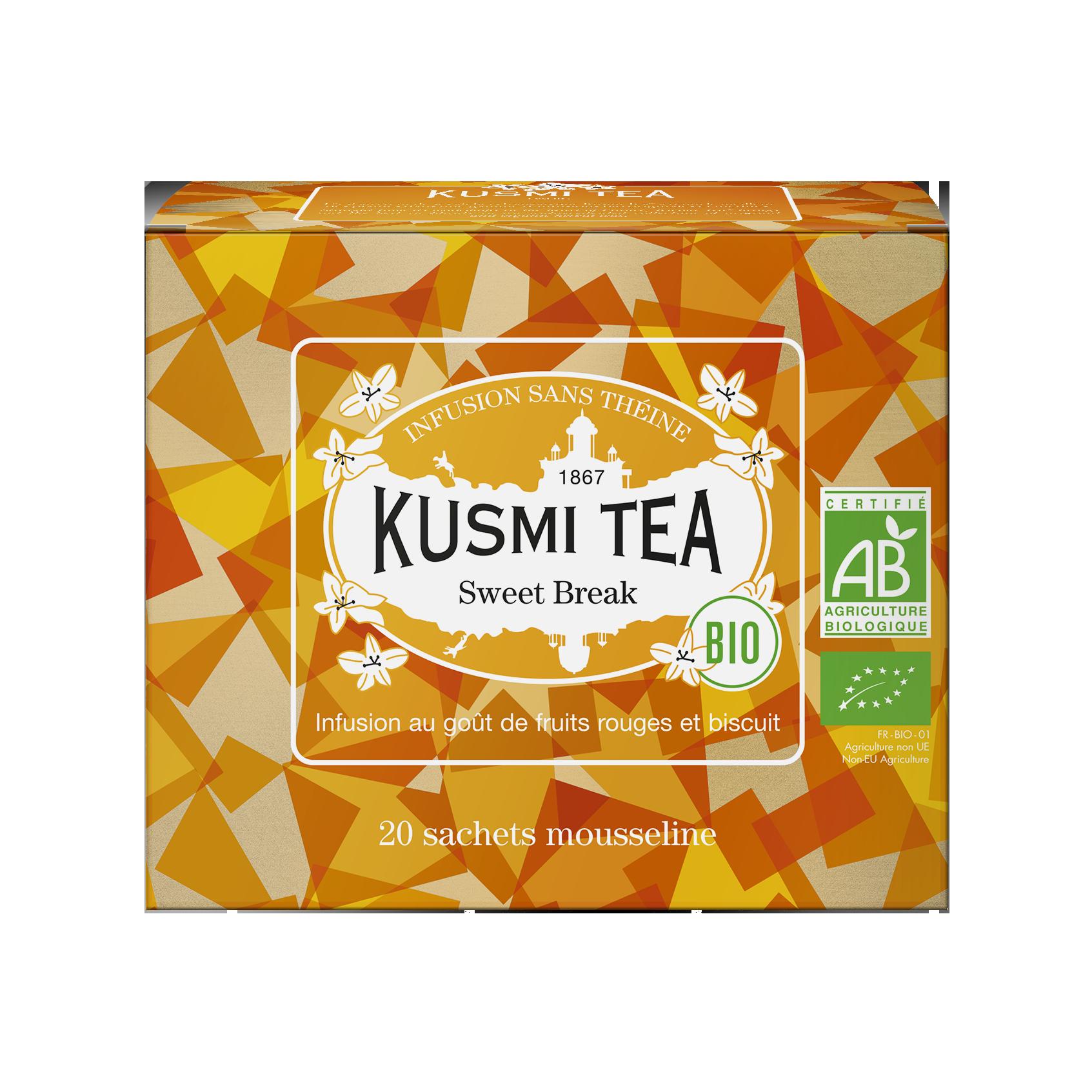 Infusion d'hibiscus bio - Sweet Break (Infusion bio) - Sachets - Kusmi Tea