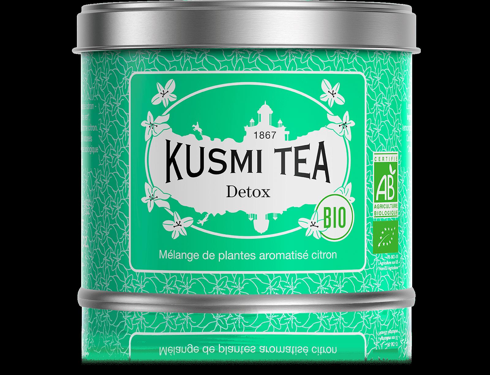 Detox bio - Thé vert, maté, citron - Boîte de thé en vrac - Kusmi Tea