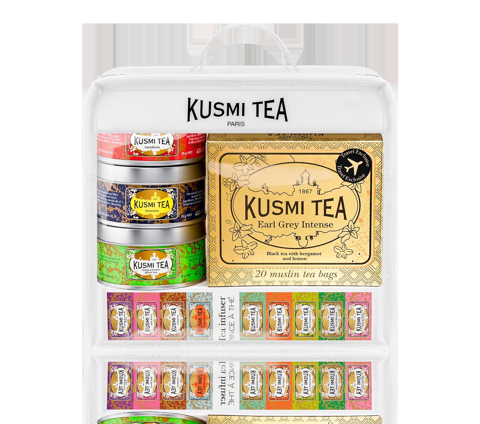 Thé en sachet et thé en vrac- Trousse de Voyage - Kusmi Tea