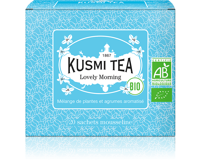 Lovely Morning bio - Thé vert, maté, agrumes - Sachets de thé - Kusmi Tea