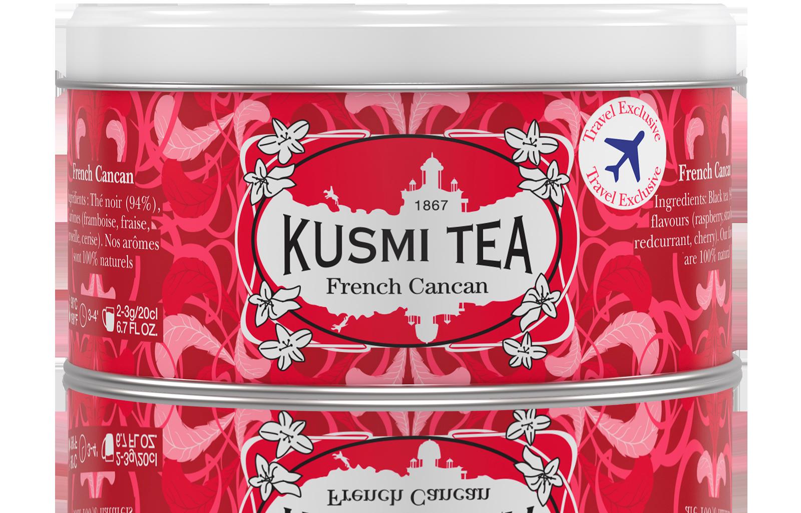 French Cancan - Thé noir, fruits rouges - Boîte de thé en vrac - Kusmi Tea