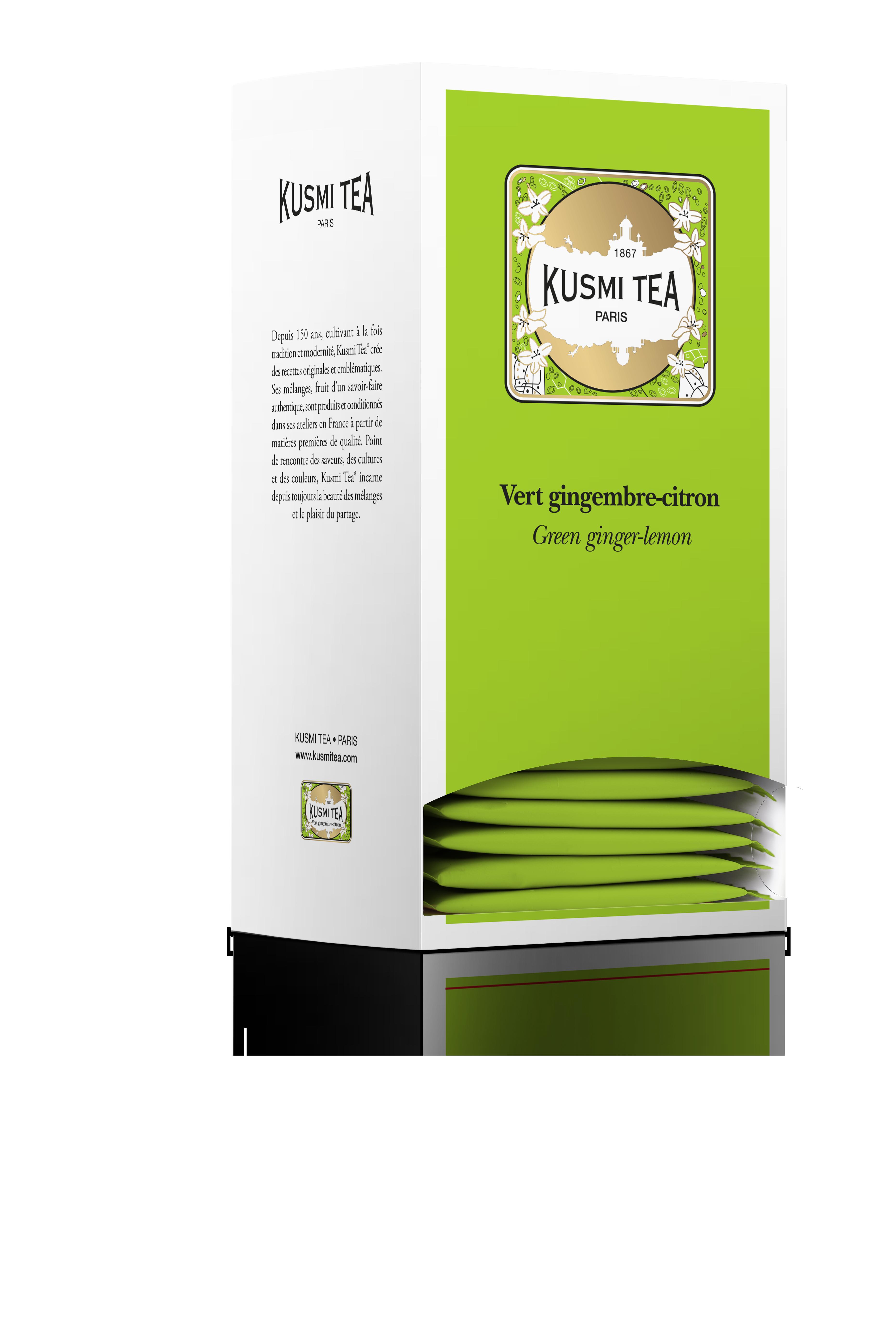 Thé vert saveur gingembre-citron