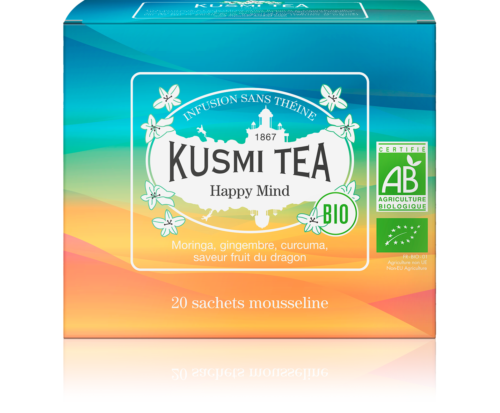 Infusion - Happy Mind (Infusion bio) - Sachets - Kusmi Tea
