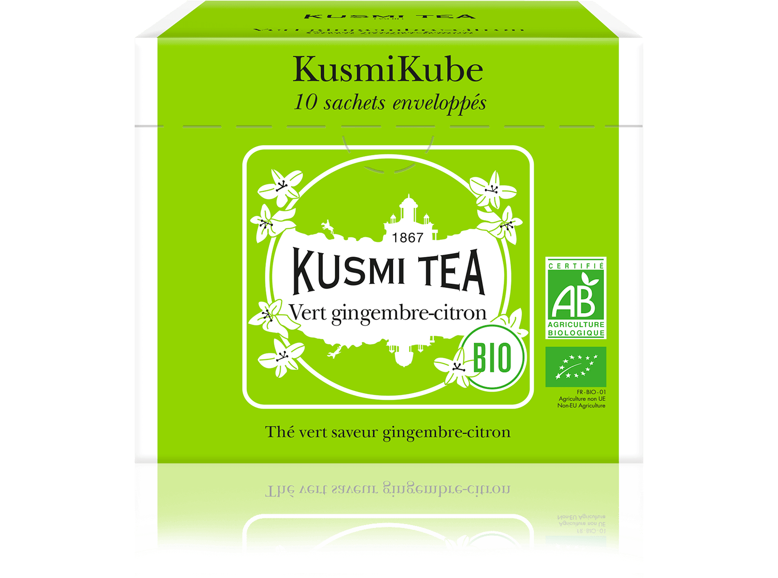 Vert gingembre-citron bio - Thé vert, gingembre, citron - Sachets de thé - Kusmi Tea