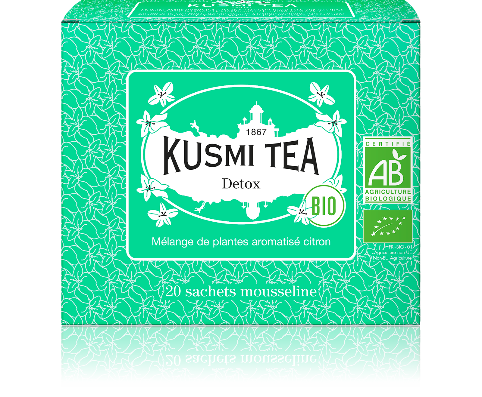 Thé vert, maté - Detox Bio - Sachets - Kusmi Tea