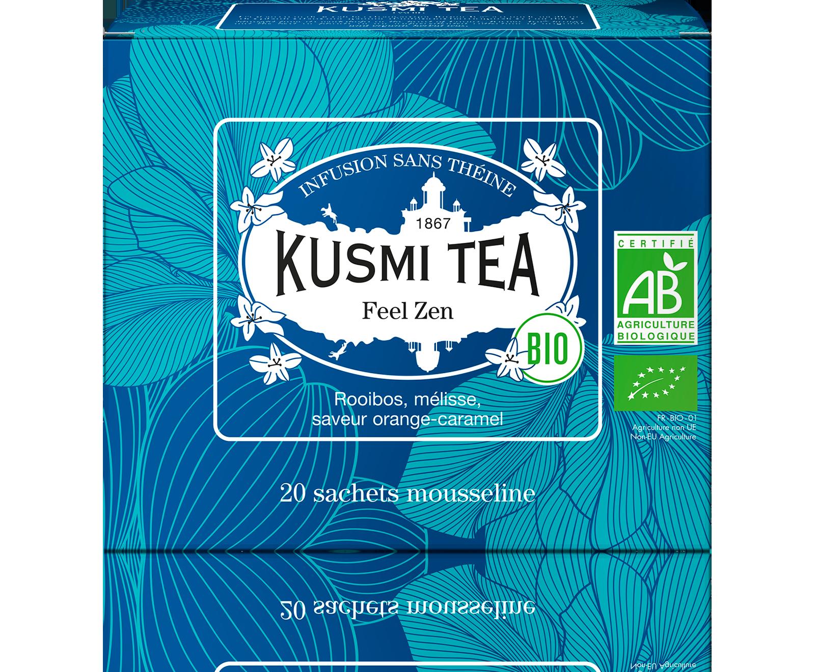 Infusion de rooibos bio - Feel Zen (Infusion bio) - Sachets - Kusmi Tea