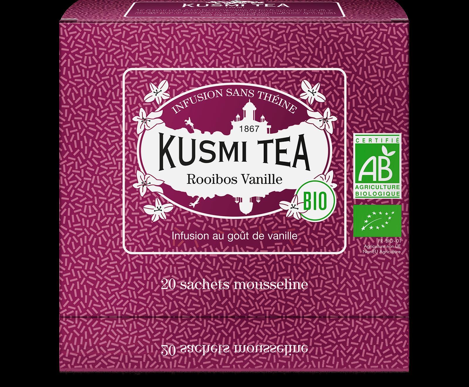 Rooibos Vanille Infusion bio - Infusion au goût de vanille - Sachets de thé - Kusmi Tea