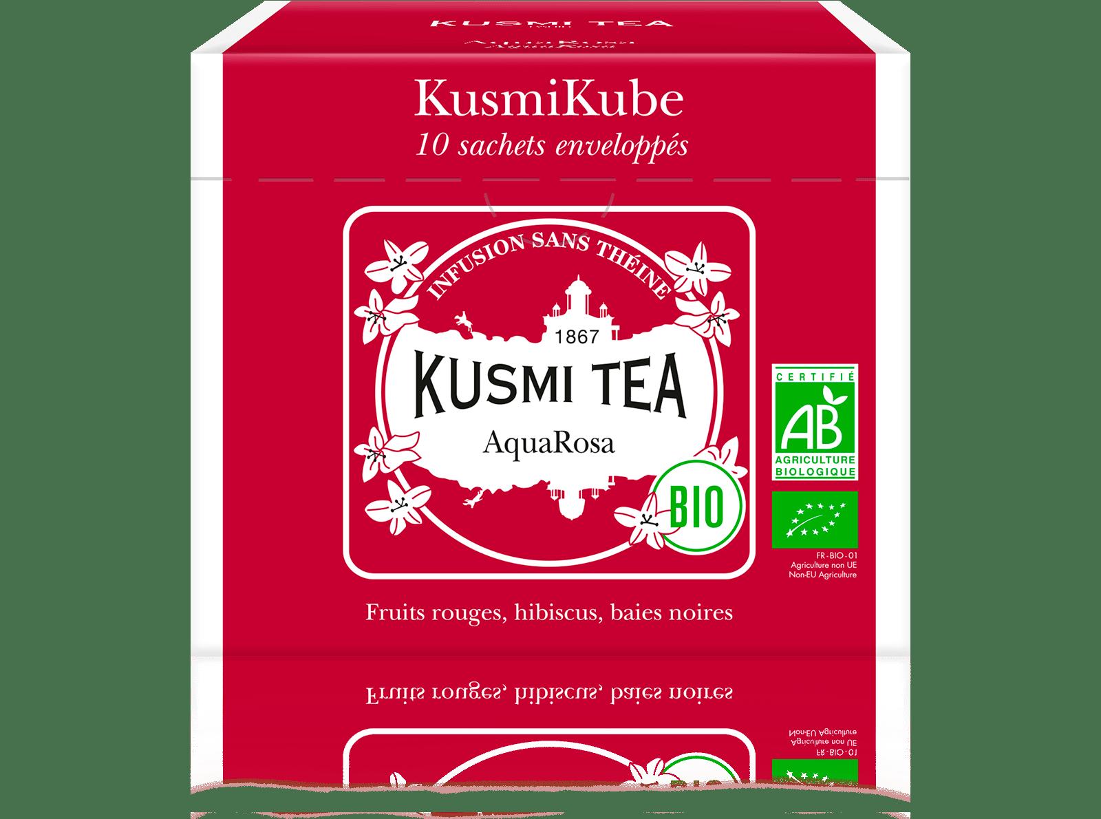 Infusion d'hibiscus bio - AquaRosa (Infusion de fruits bio) - Sachets - Kusmi Tea