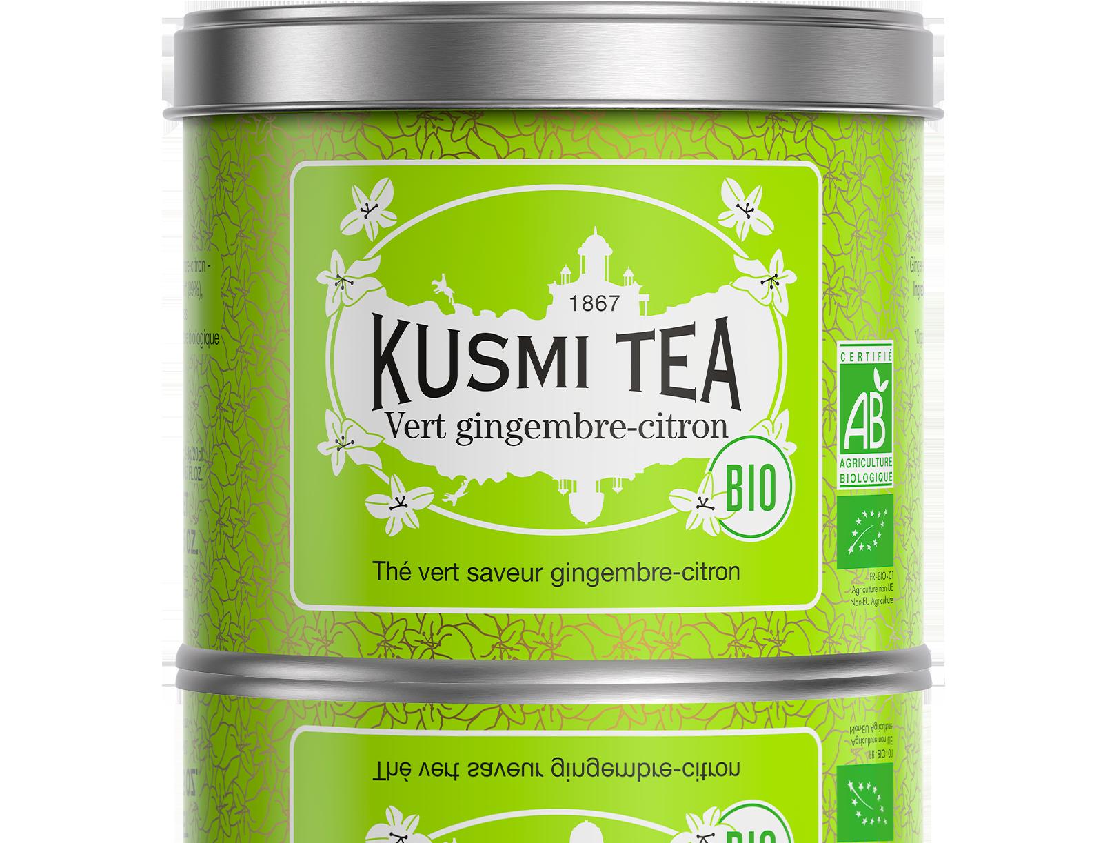 Thé vert - Vert gingembre-citron bio - Vrac - Kusmi Tea