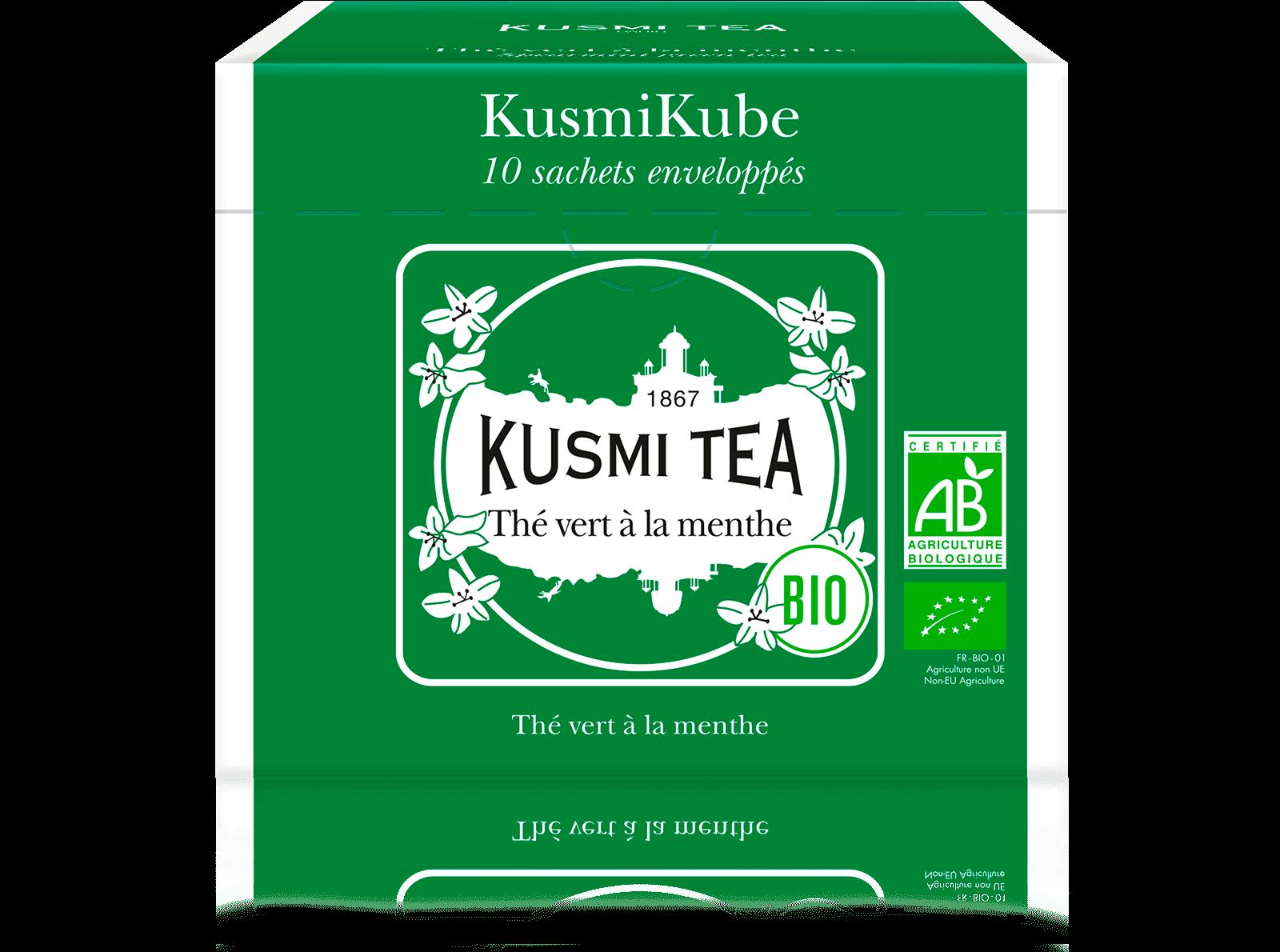 Thé vert à la menthe bio - Thé vert à la menthe - Sachets de thé - Kusmi Tea