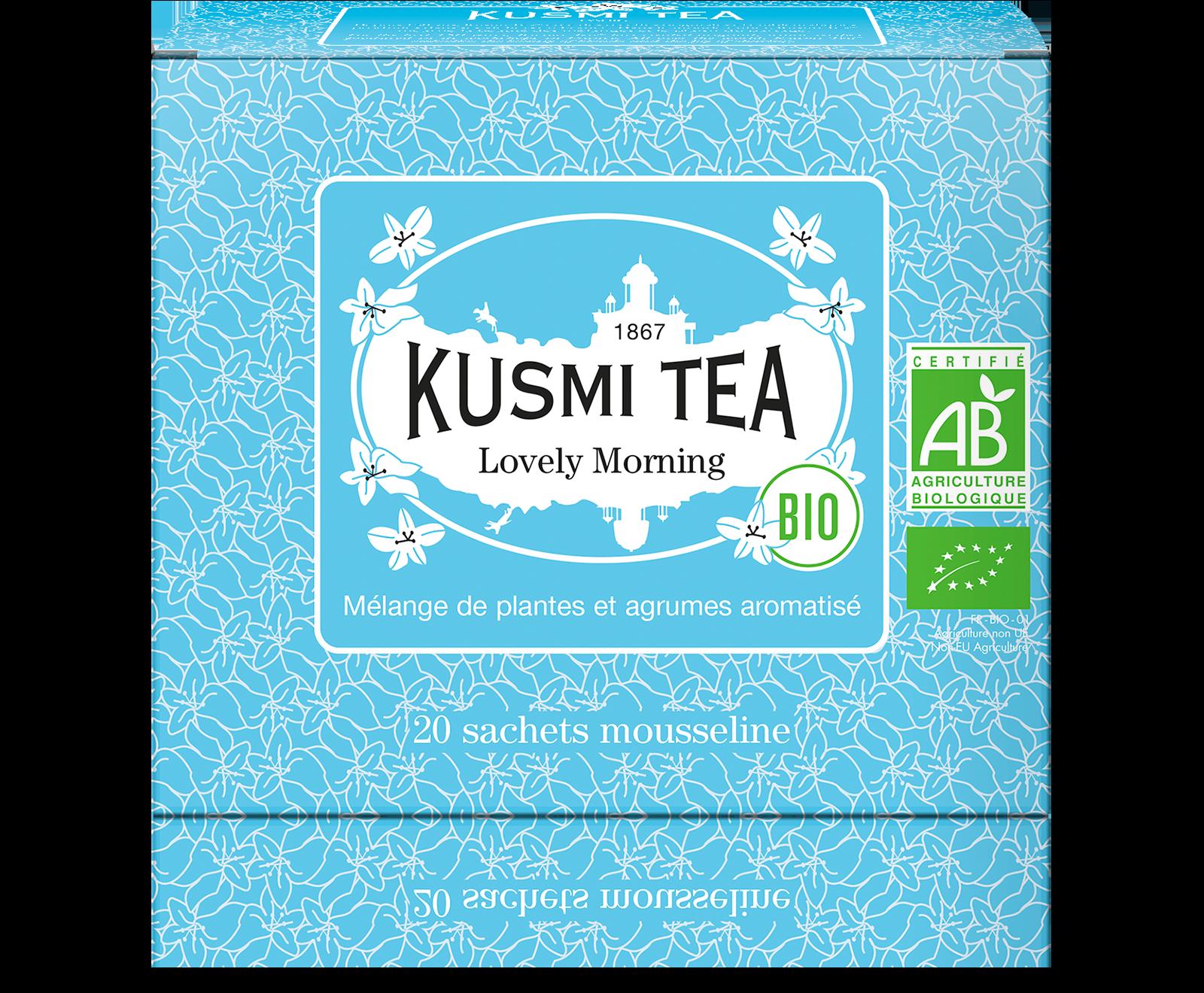 Thé vert, maté - Lovely Morning Bio - Sachets - Kusmi Tea