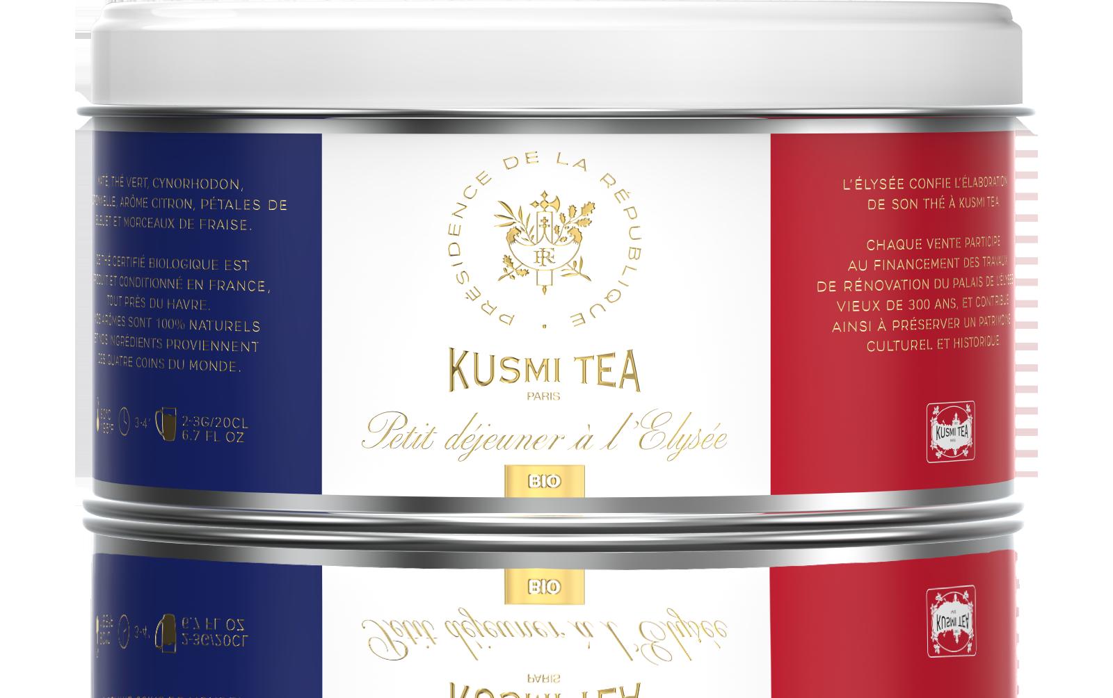 Thé vert, yerba maté - Petit déjeuner à l'Elysée Bio - Kusmi Tea