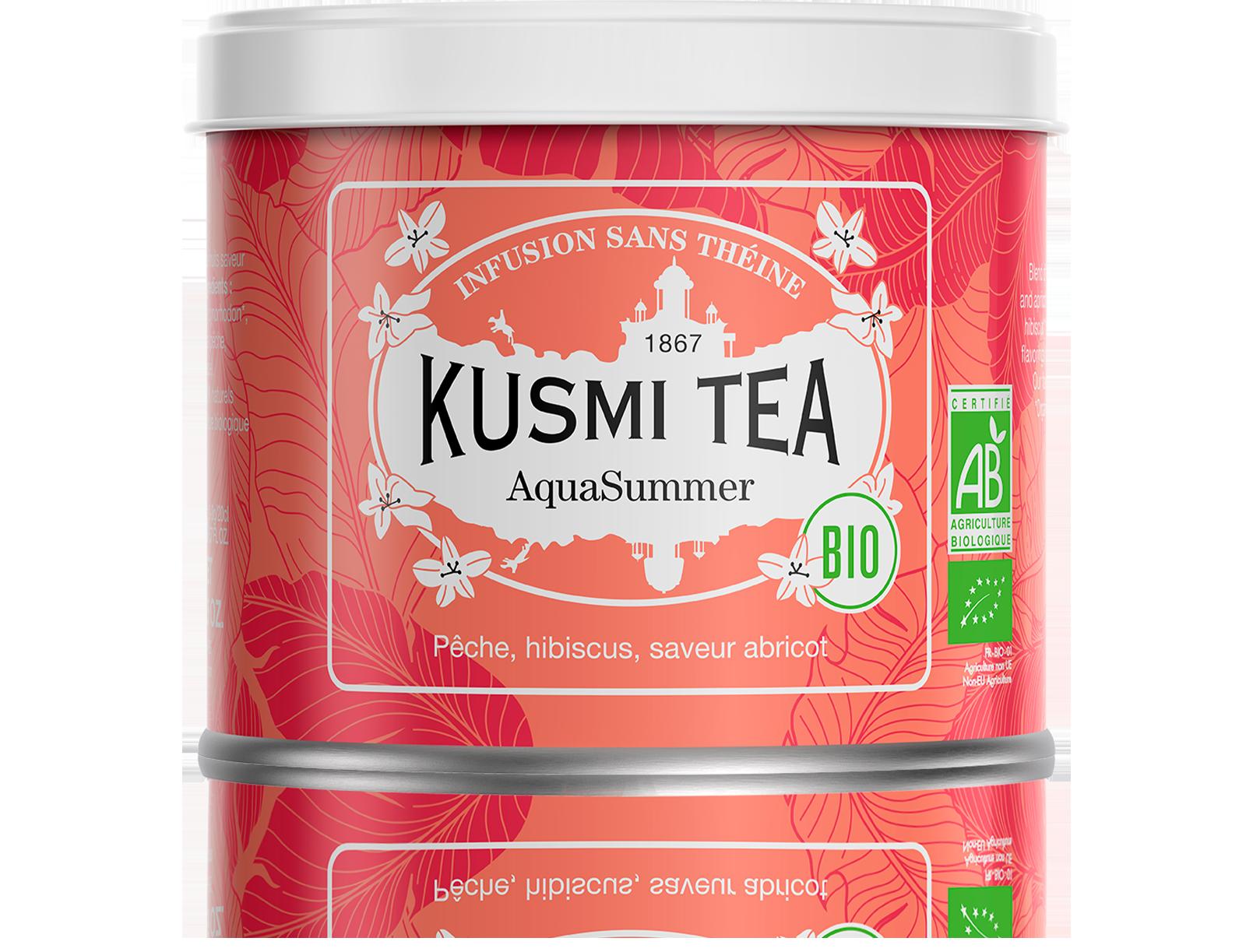 Infusion d'hibiscus bio - AquaSummer (Infusion de fruits bio) - Vrac - Kusmi Tea