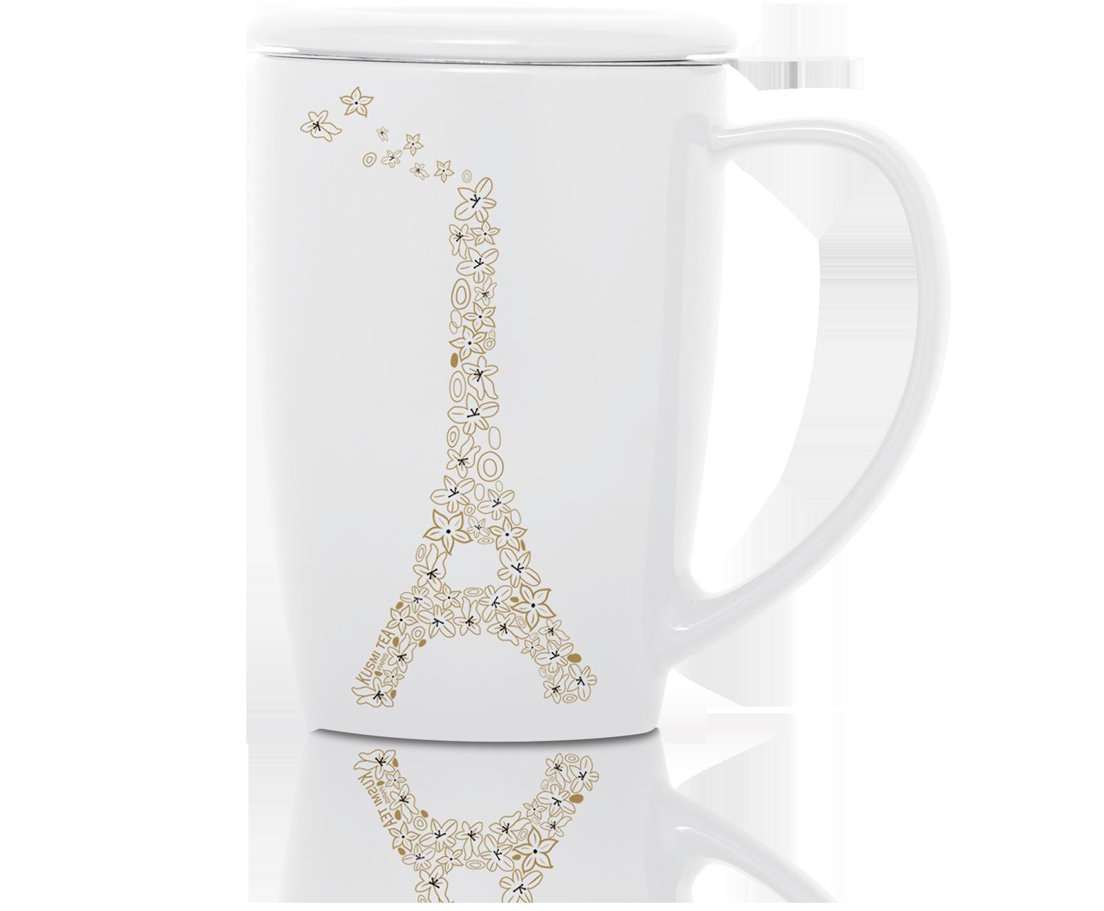 Tasse blanche Tour Eiffel Accessoire de Thé KUSMI TEA