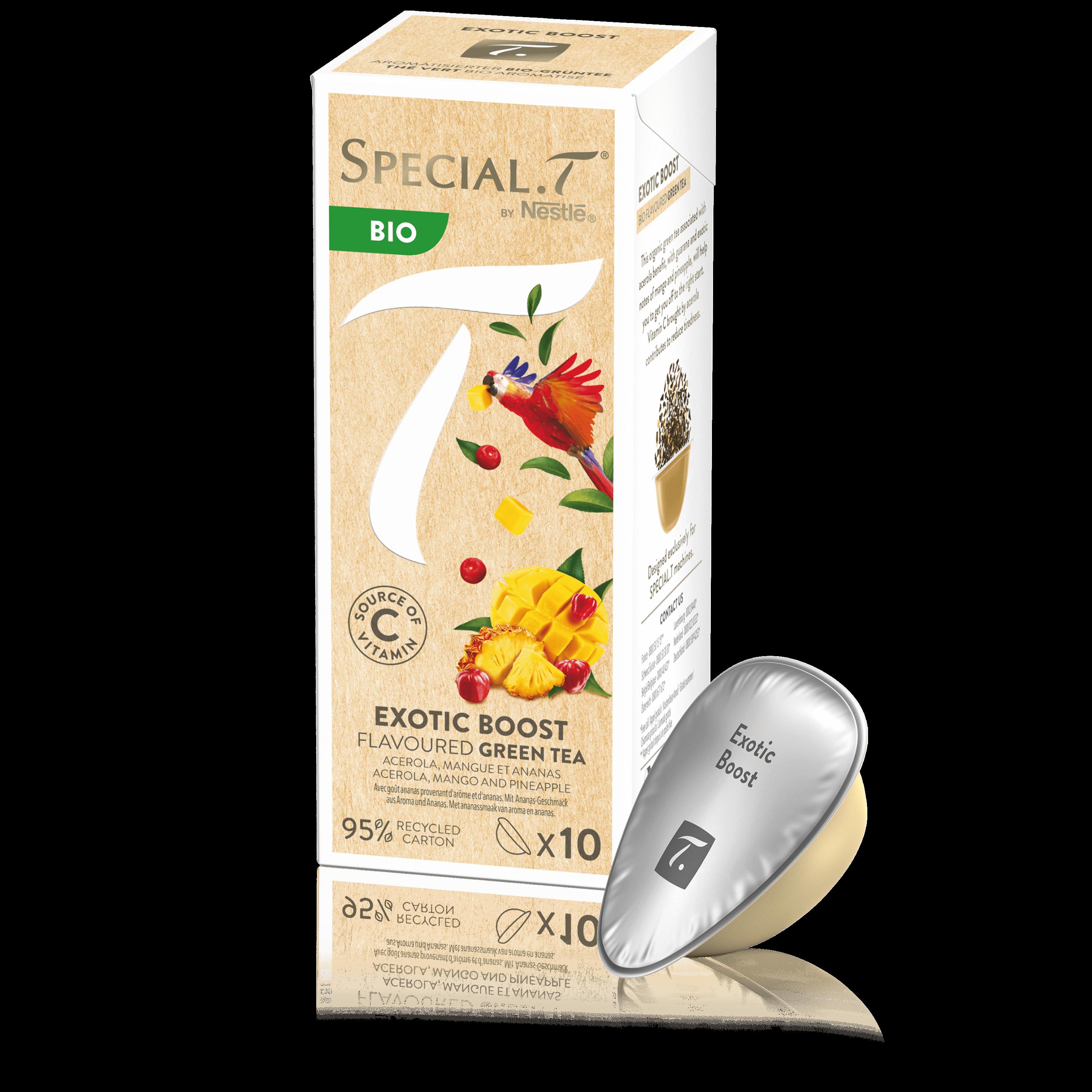Capsule Exotic Boost bio - Special.T - 10 capsules de thé vert bio aromatisé pour machine SPECIAL.T - Kusmi Tea