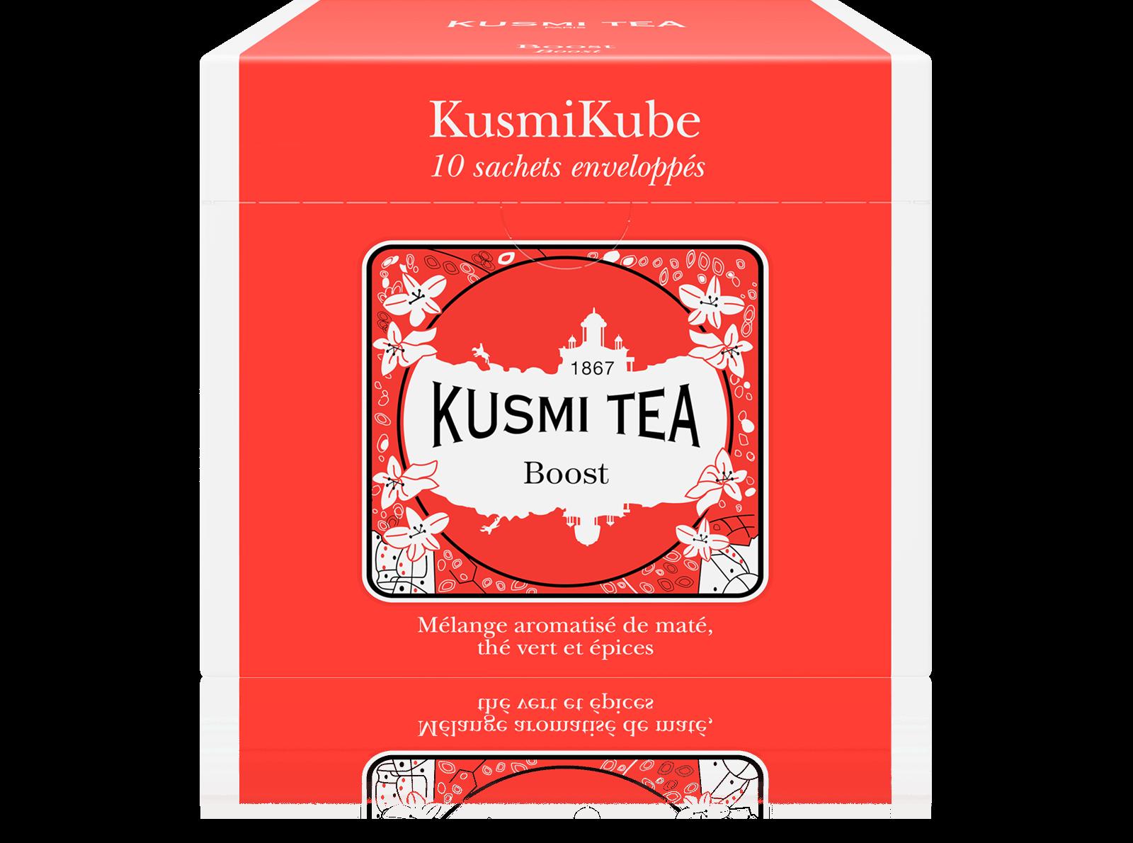 Thé vert Maté épicé Boost - thé en sachet Kusmi Tea