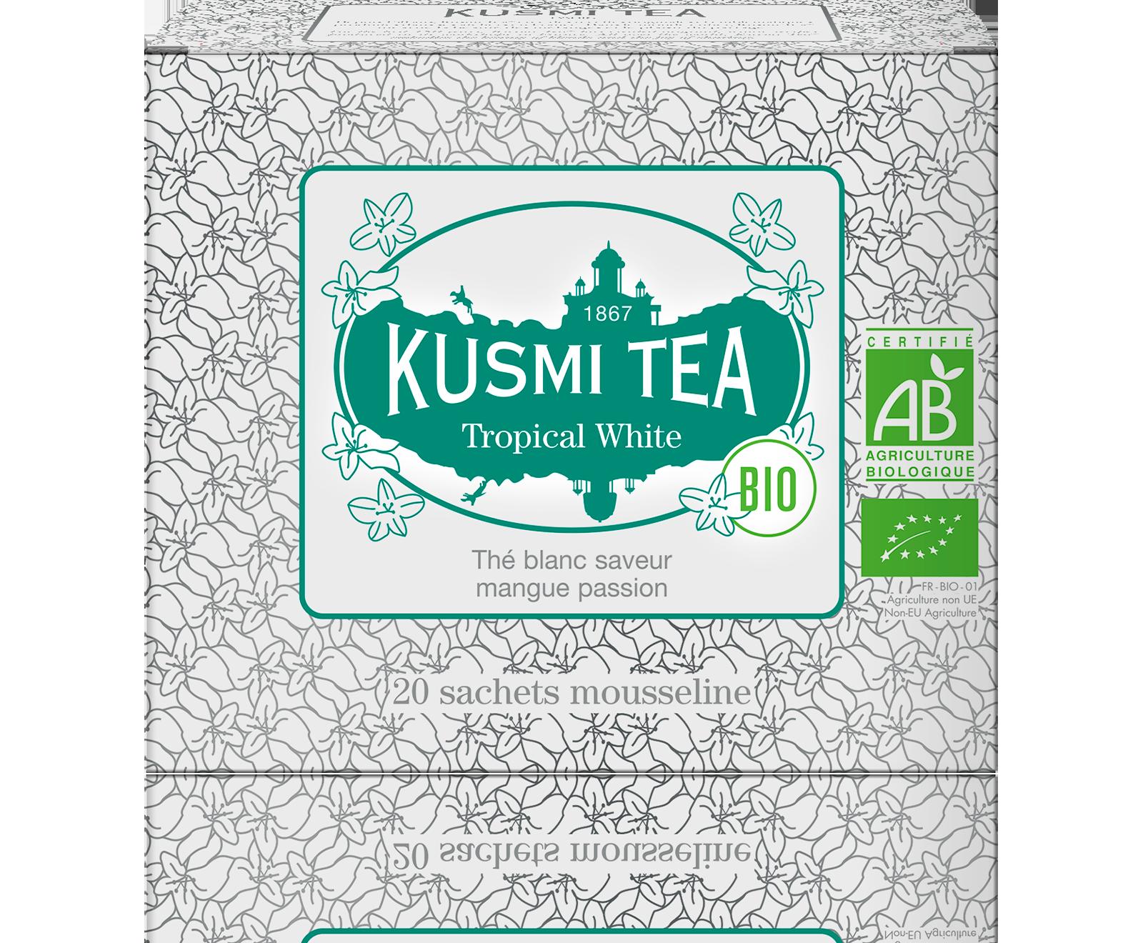 Thé blanc - Tropical White bio - Sachets - Kusmi Tea