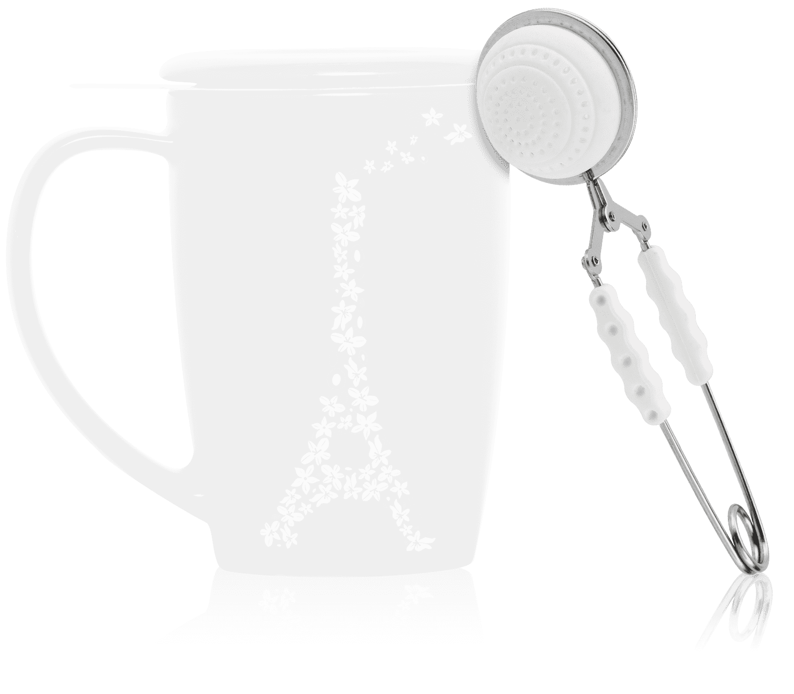 Pince à thé blanche - Accessoire pour le thé - Kusmi Tea