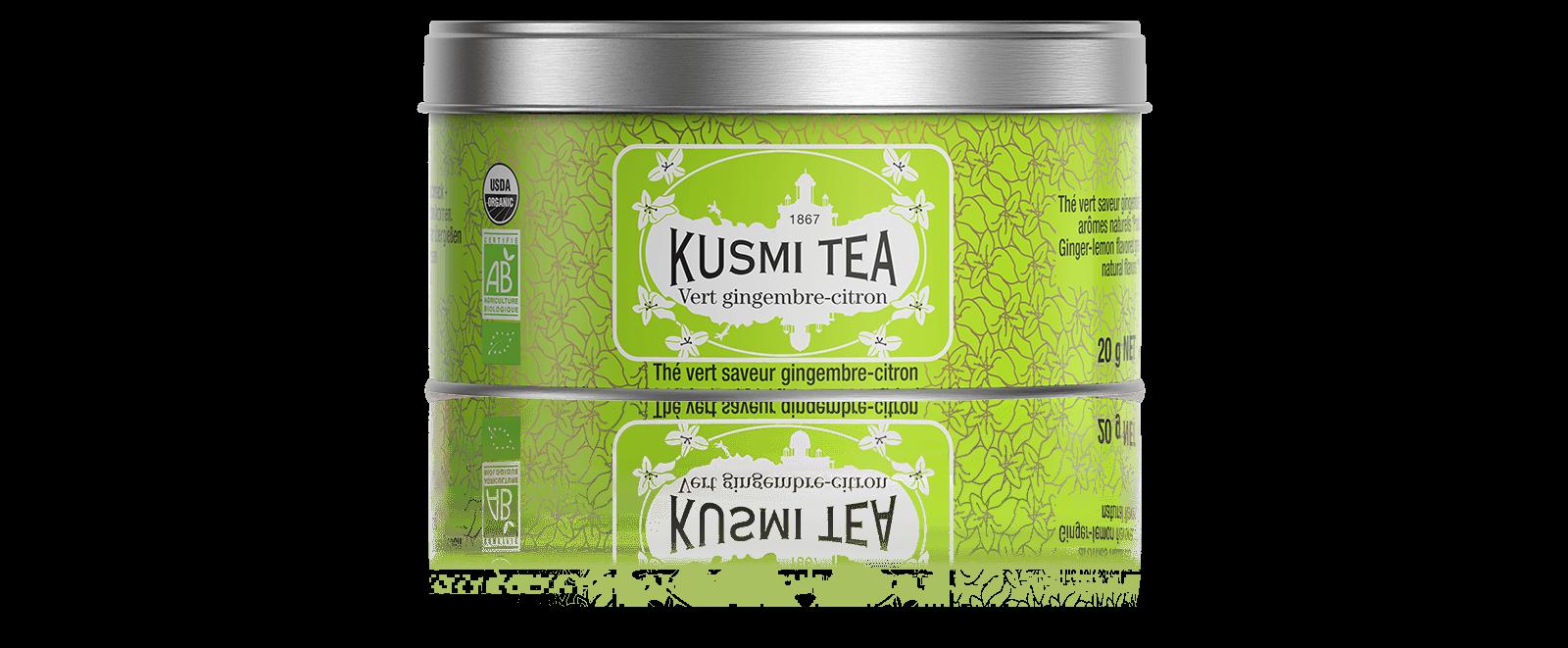Vert gingembre-citron bio - Thé vert saveur gingembre-citron - Boite à thé en vrac - Kusmi Tea