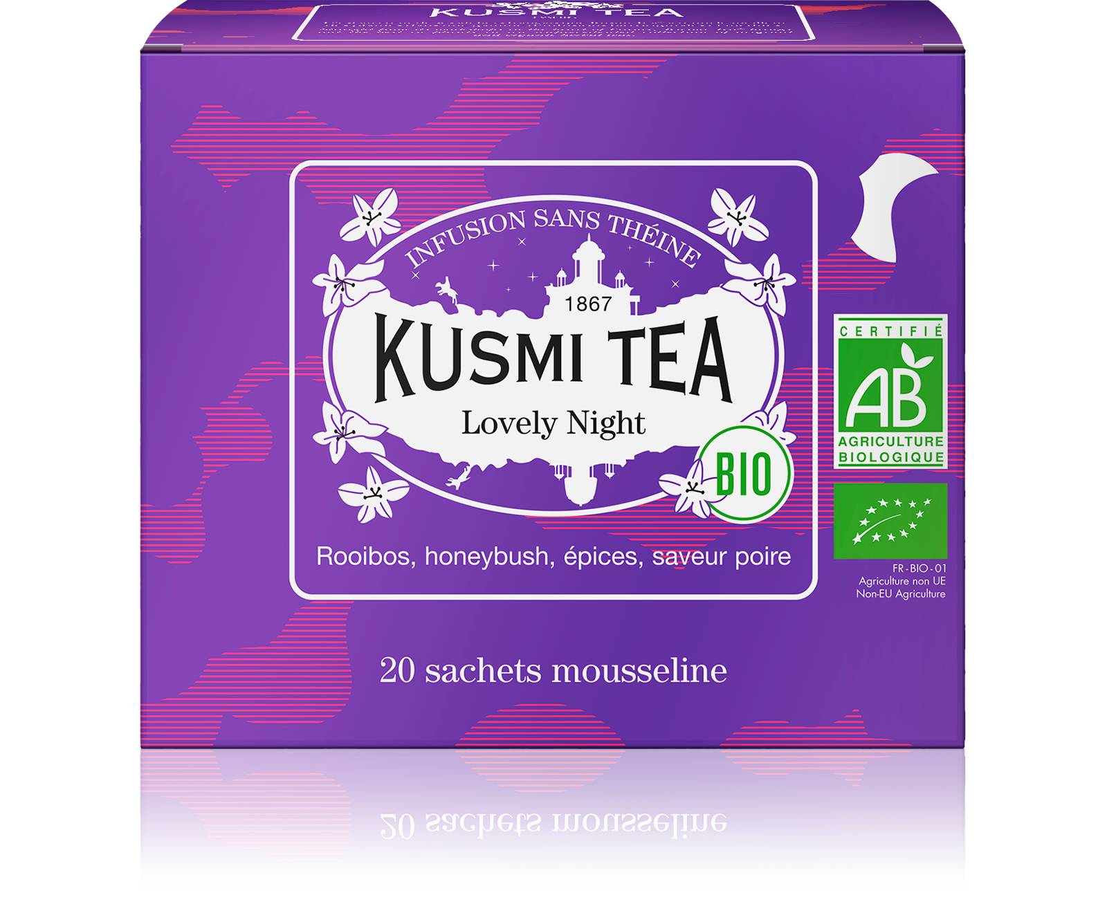 Infusion de rooibos bio - Lovely Night (Infusion bio) - Sachets - Kusmi Tea