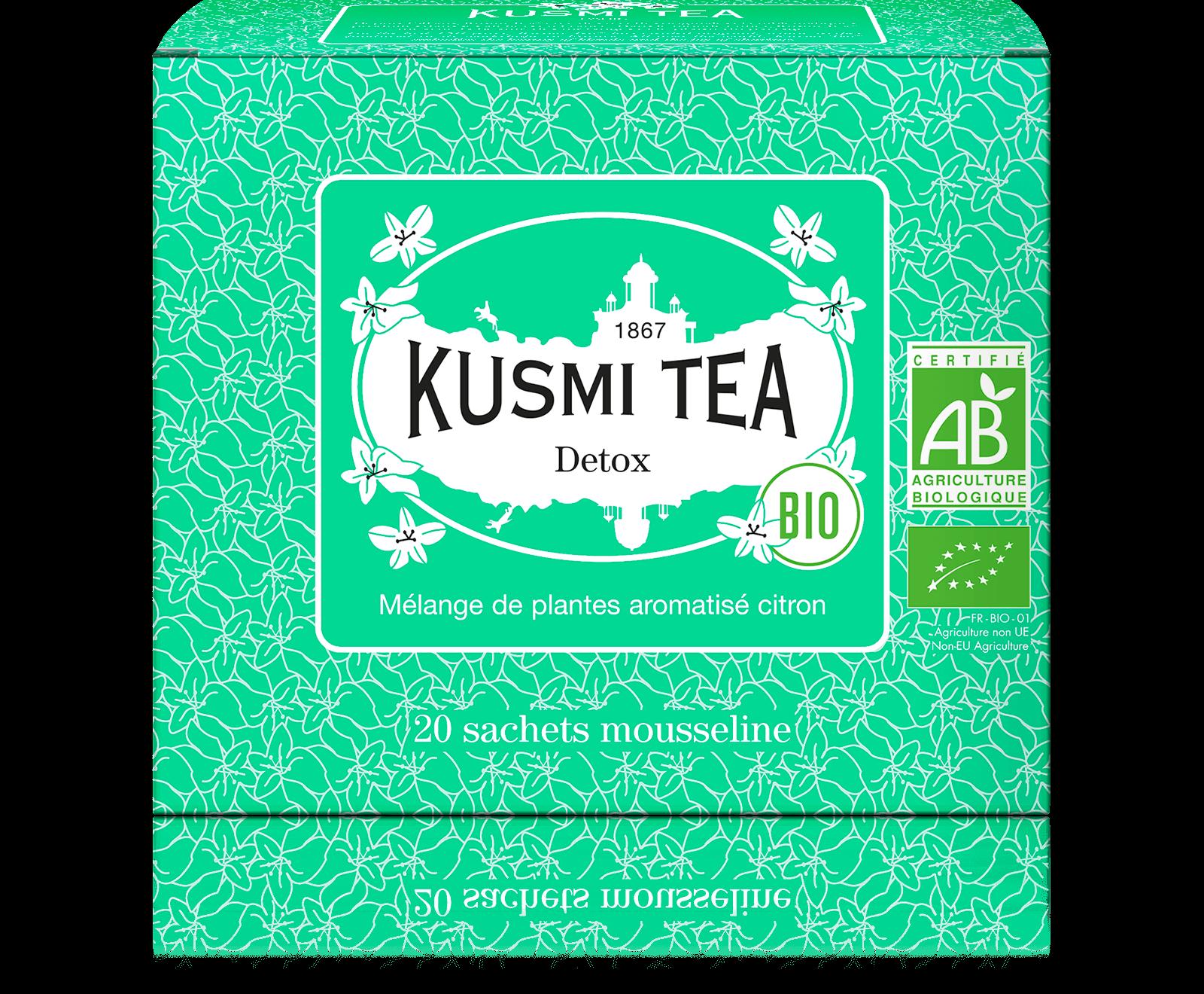 Detox bio - Thé vert, maté, citron - Sachets de thé - Kusmi Tea