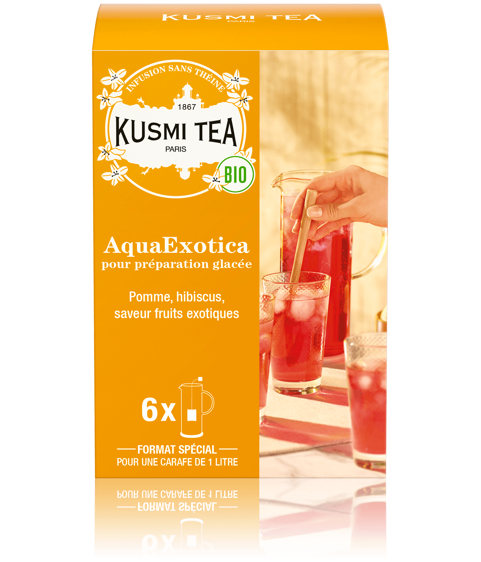AquaExotica Infusion glacée bio aux fruits exotiques Kusmi Tea
