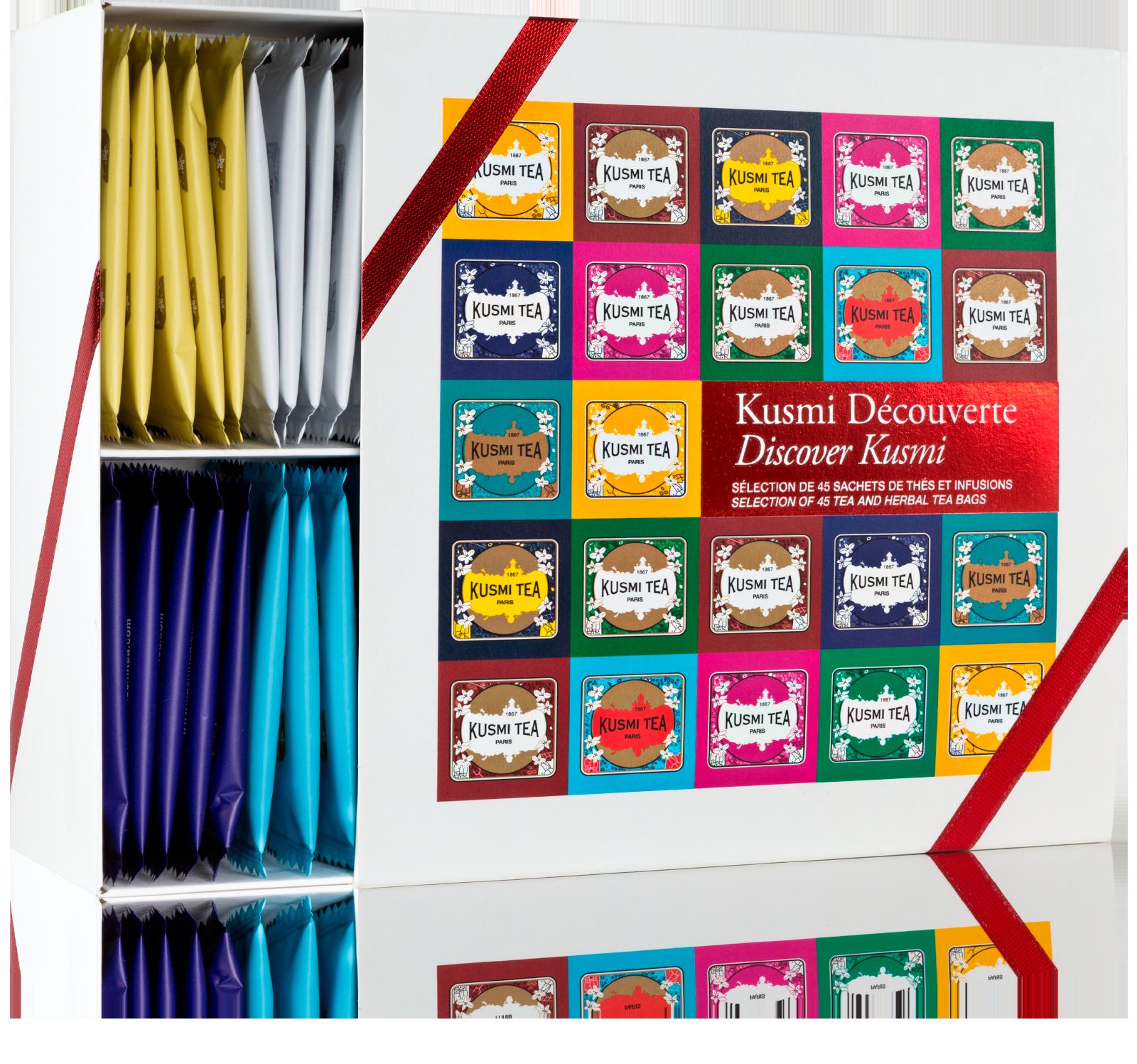 Coffret Découverte, 45 sachets de thés et infusions - KUSMI TEA