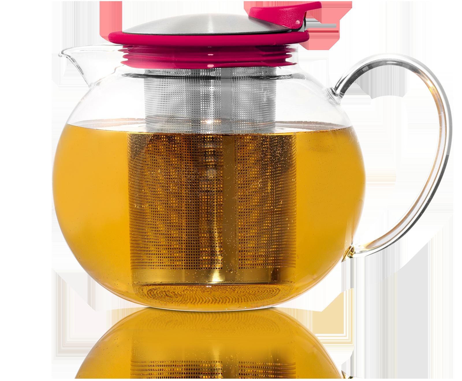 Théière Bola en verre avec filtre et couvercle 1,1L