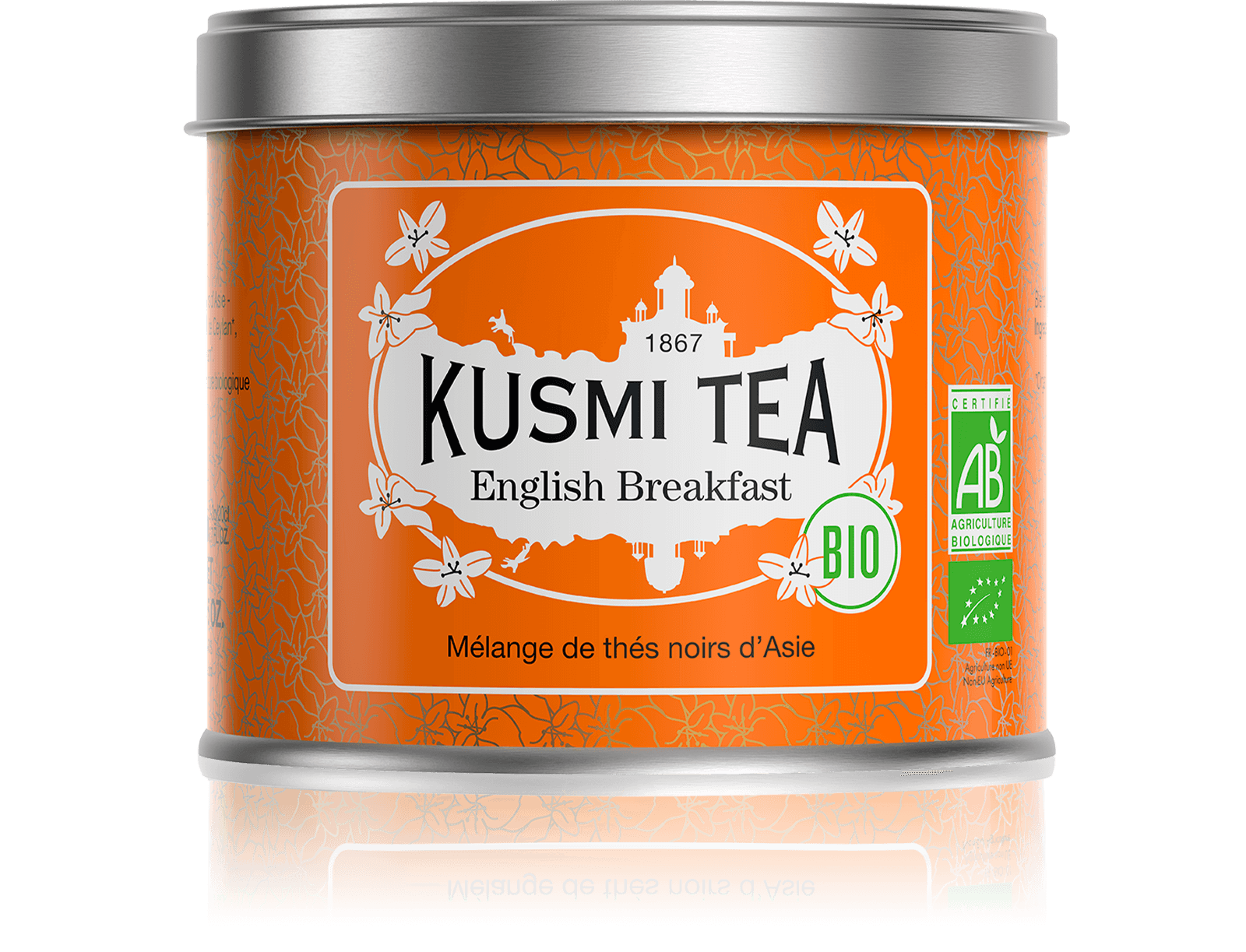 English Breakfast bio - Thé noir de Ceylan, Assam - Boîte de thé en vrac - Kusmi Tea