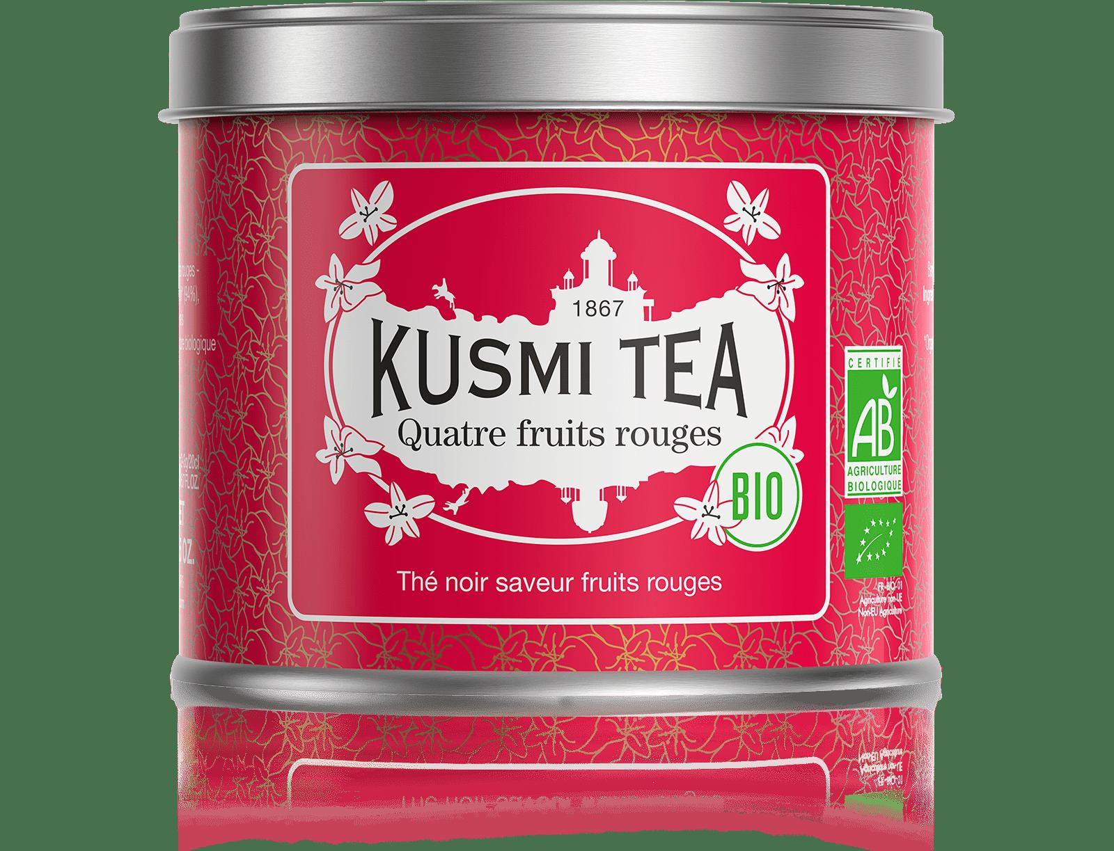 Thé noir - Quatre Fruits Rouges bio - Vrac - Kusmi Tea