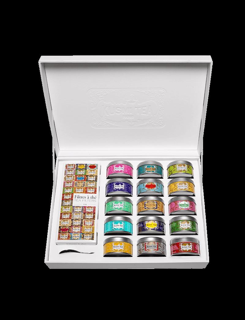 Thé vert & thé noir en vrac- La Collection Coffret Cadeau - Kusmi Tea