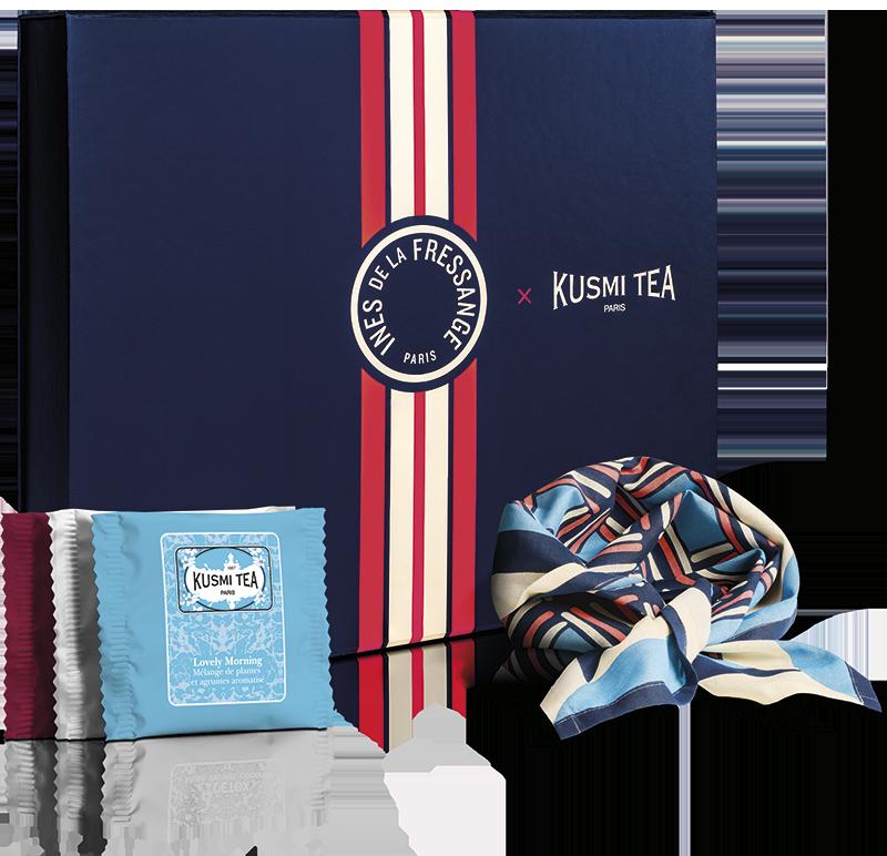 Coffret de thé - Coffret bio Les voyages d Ines - Kusmi Tea