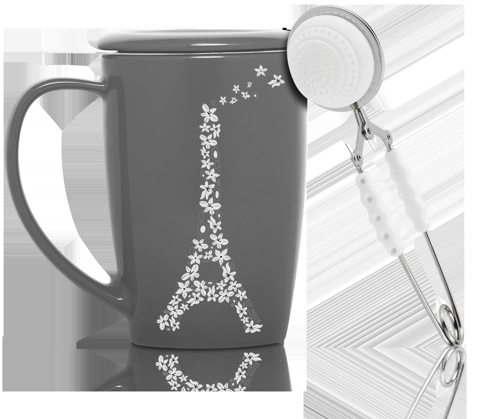 Pince à thé silicone blanche pour 1 tasse