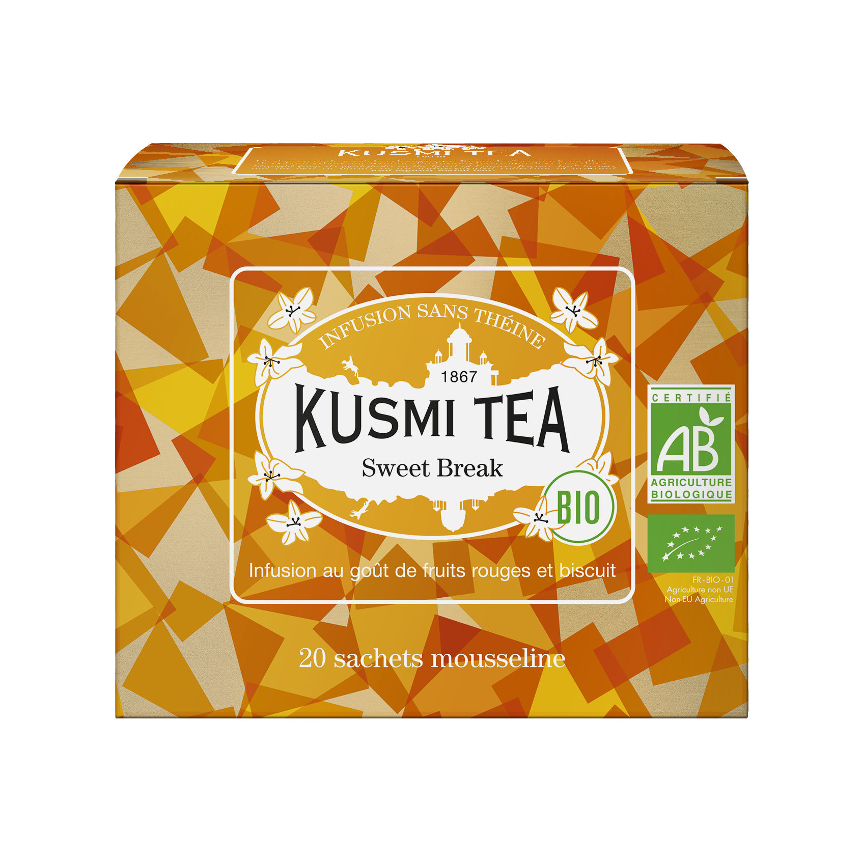 Infusion d'hibiscus bio - Sweet Break (Infusion bio) - Sachets - Kusmi Tea