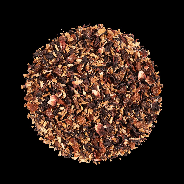 AquaFrutti Infusion de fruits bio - Infusion hibiscus, baies de goji - Thé en vrac - Kusmi Tea