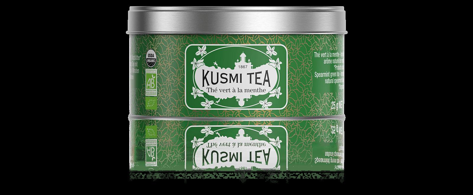 Thé vert à la menthe bio - Thé vert à la menthe - Boite à thé en vrac - Kusmi Tea