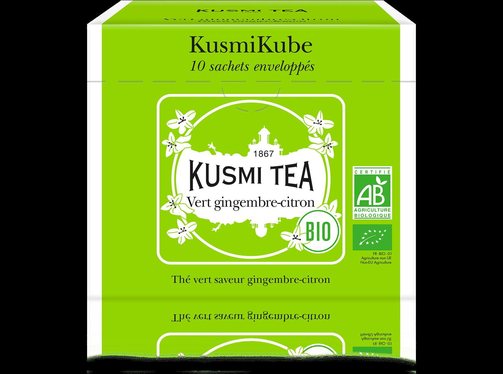 Thé vert - Vert gingembre-citron bio - Sachets - Kusmi Tea
