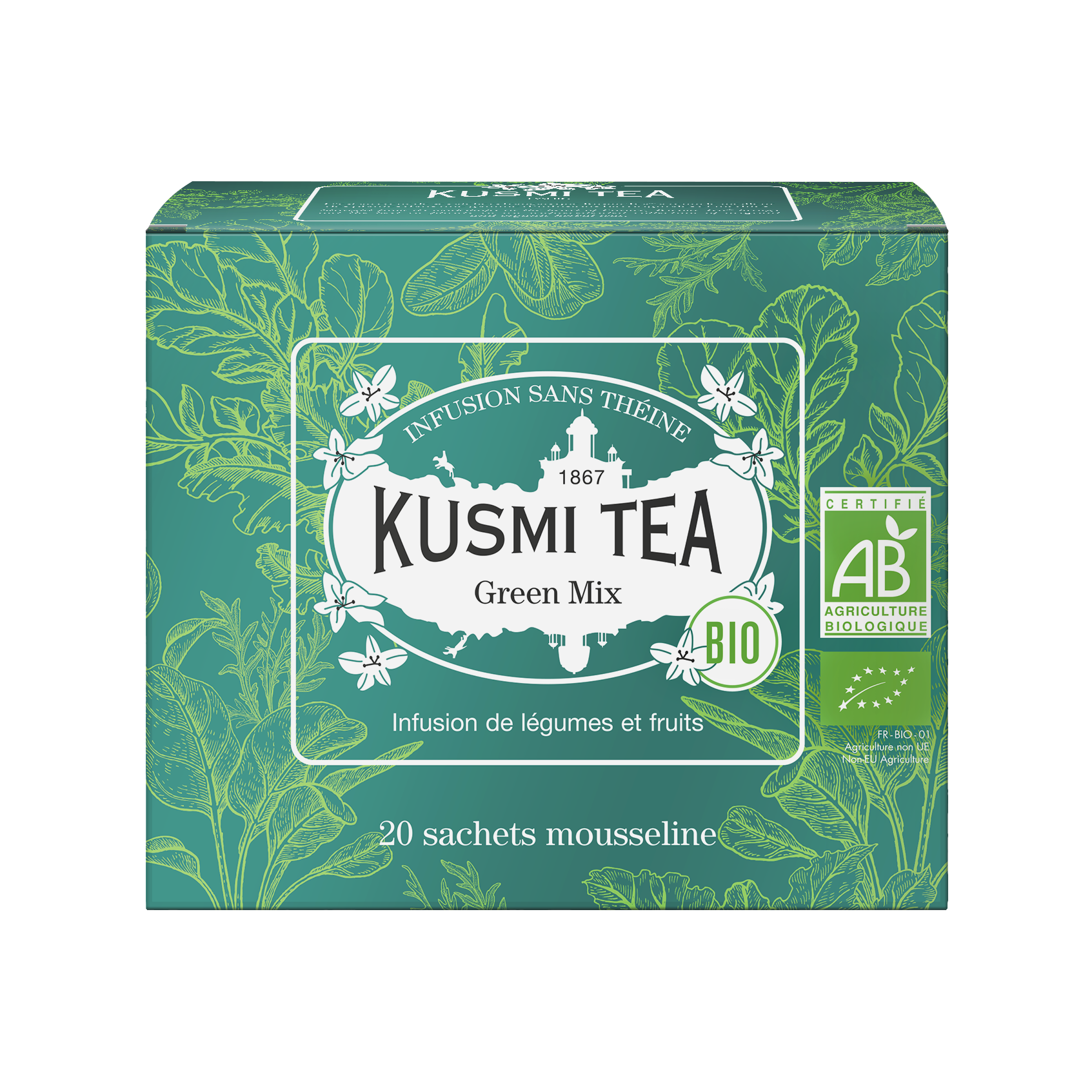 Infusion - Green Mix (Infusion bio) - Sachets - Kusmi Tea