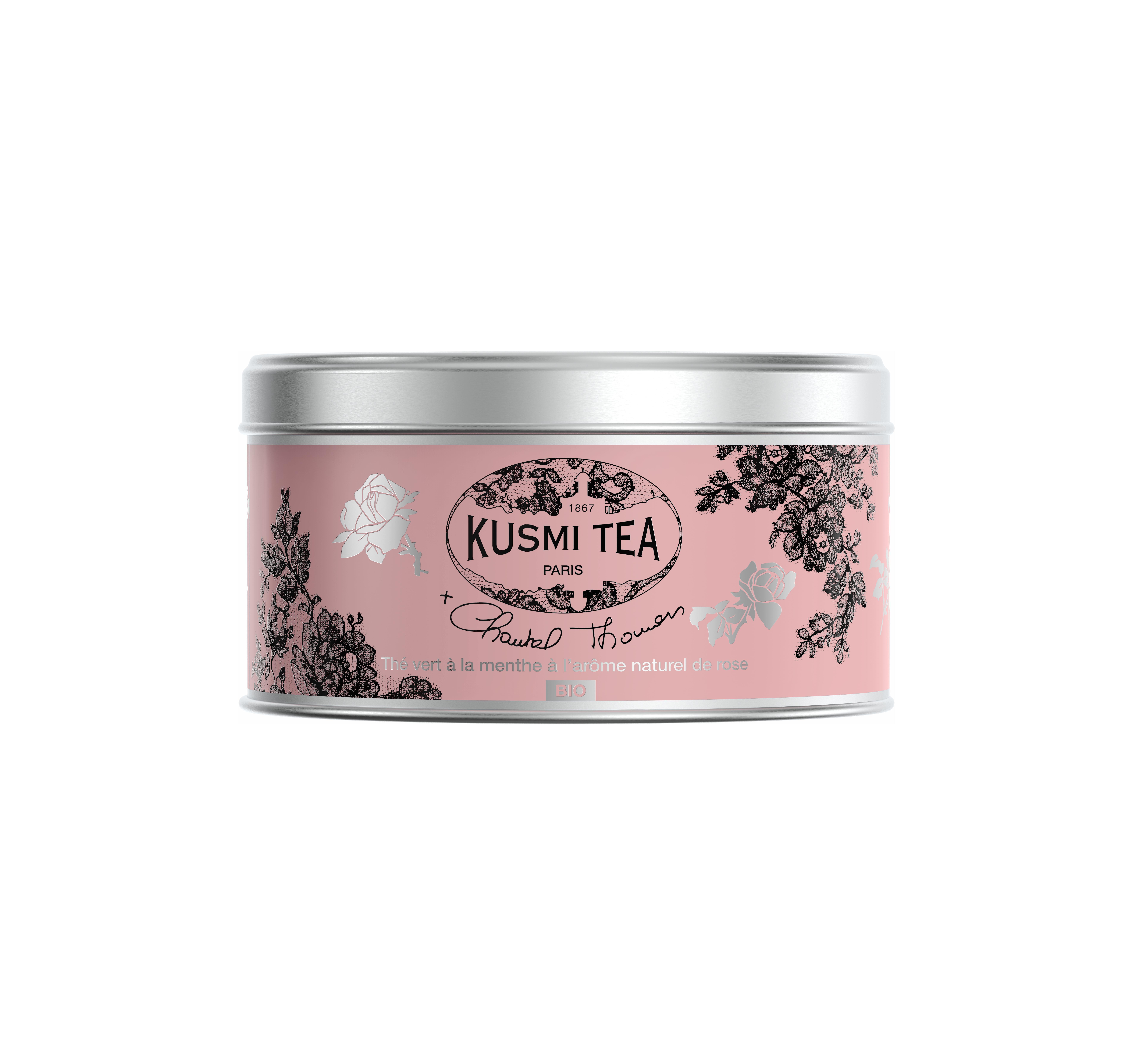 Thé vert à la menthe bio à l'arôme naturel de rose