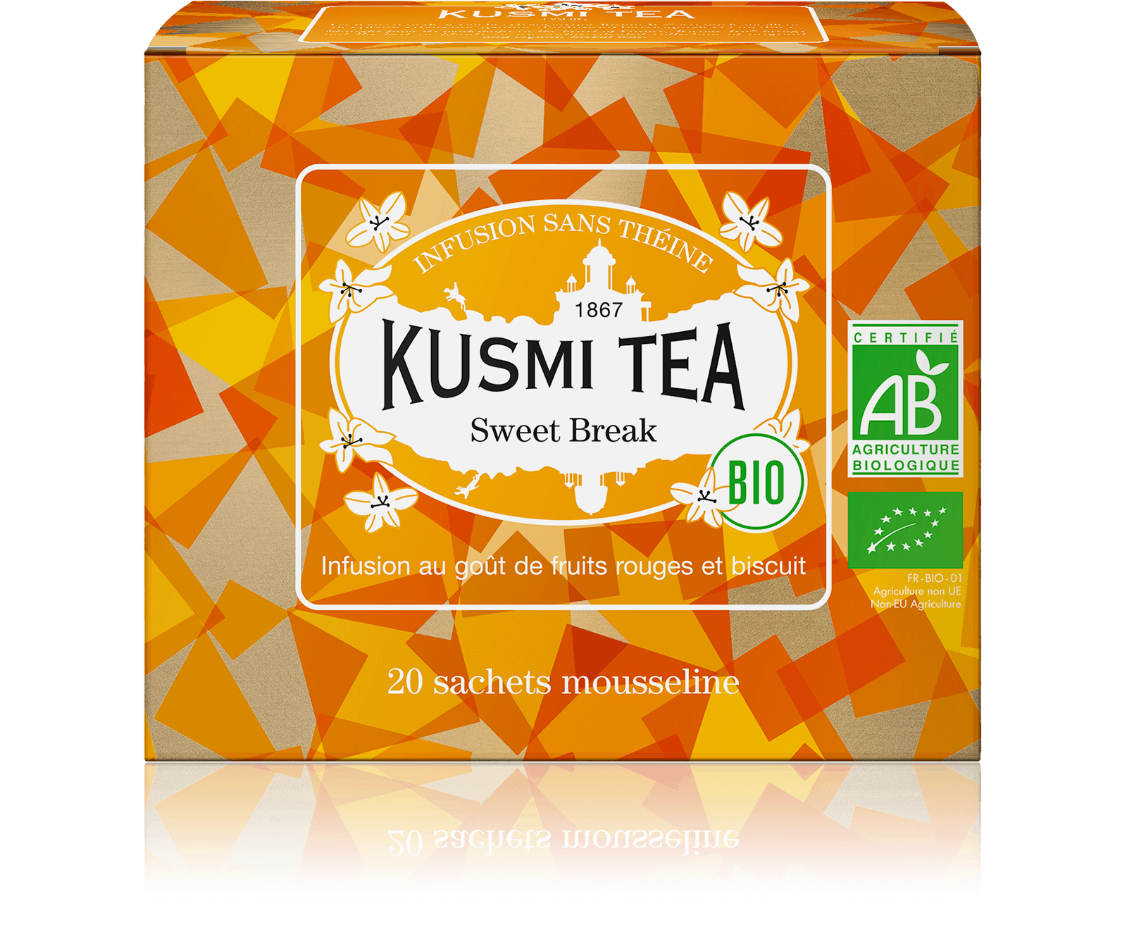 Sweet Break Infusion bio - Fruits rouges, biscuit - Sachets de thé - Kusmi Tea